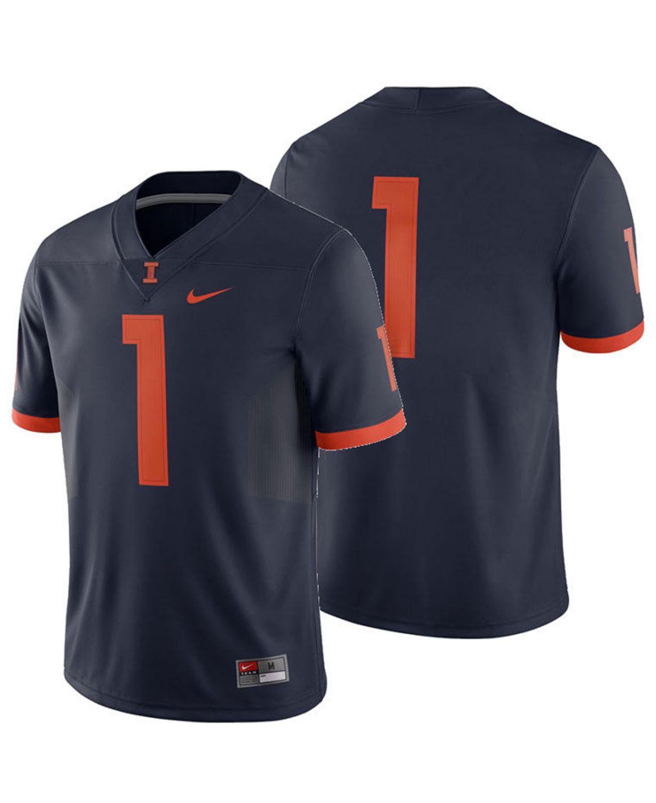 dfd253a5295 Lyst - Nike Illinois Fighting Illini Football Replica Game Jersey in ...