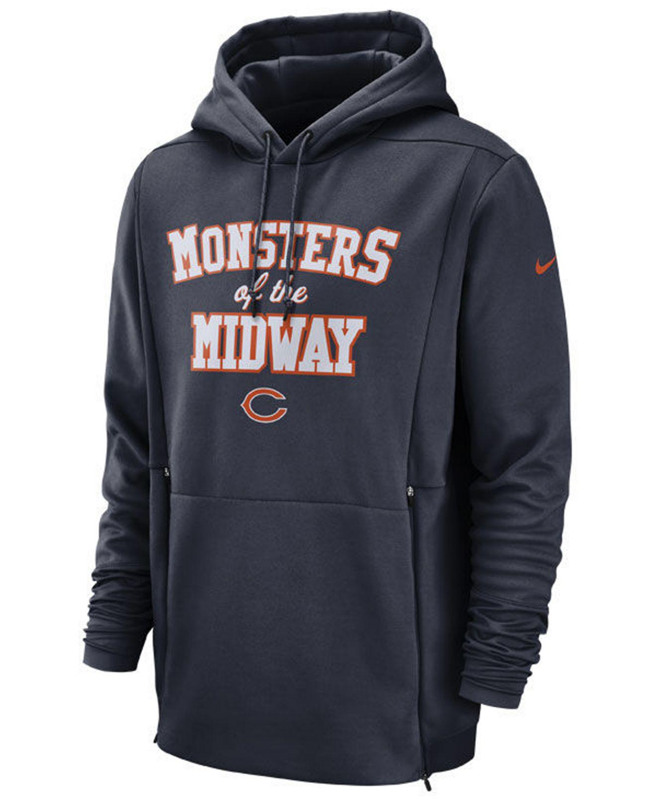9f78e2ecc Lyst - Nike Chicago Bears Sideline Player Local Therma Hoodie in ...