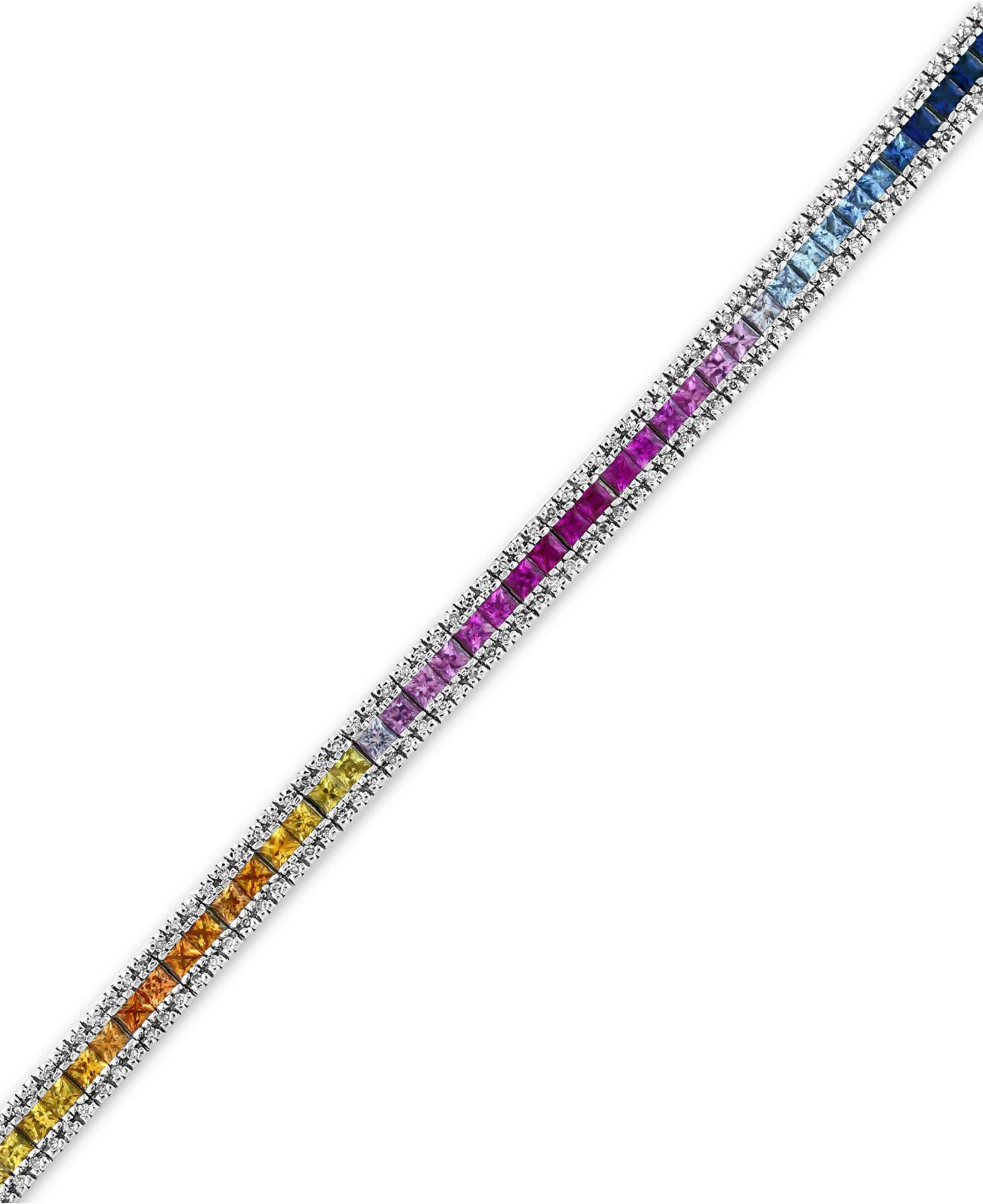 Lyst Effy Collection Multi Sapphire 8 1 4 Ct T W And