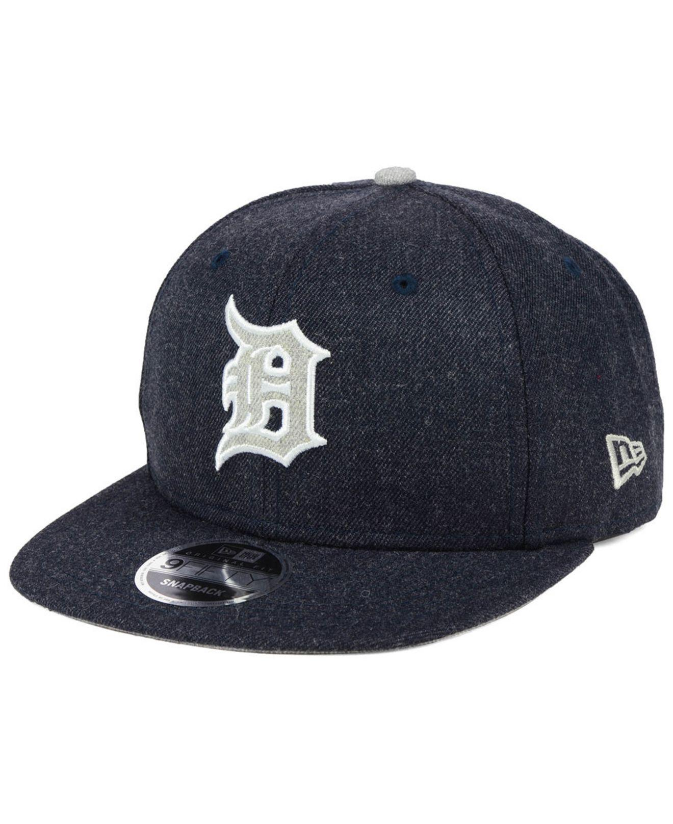 online retailer e0b5d c03af ... denmark lyst ktz detroit tigers heather hype 9fifty snapback cap in blue  8e808 ee171