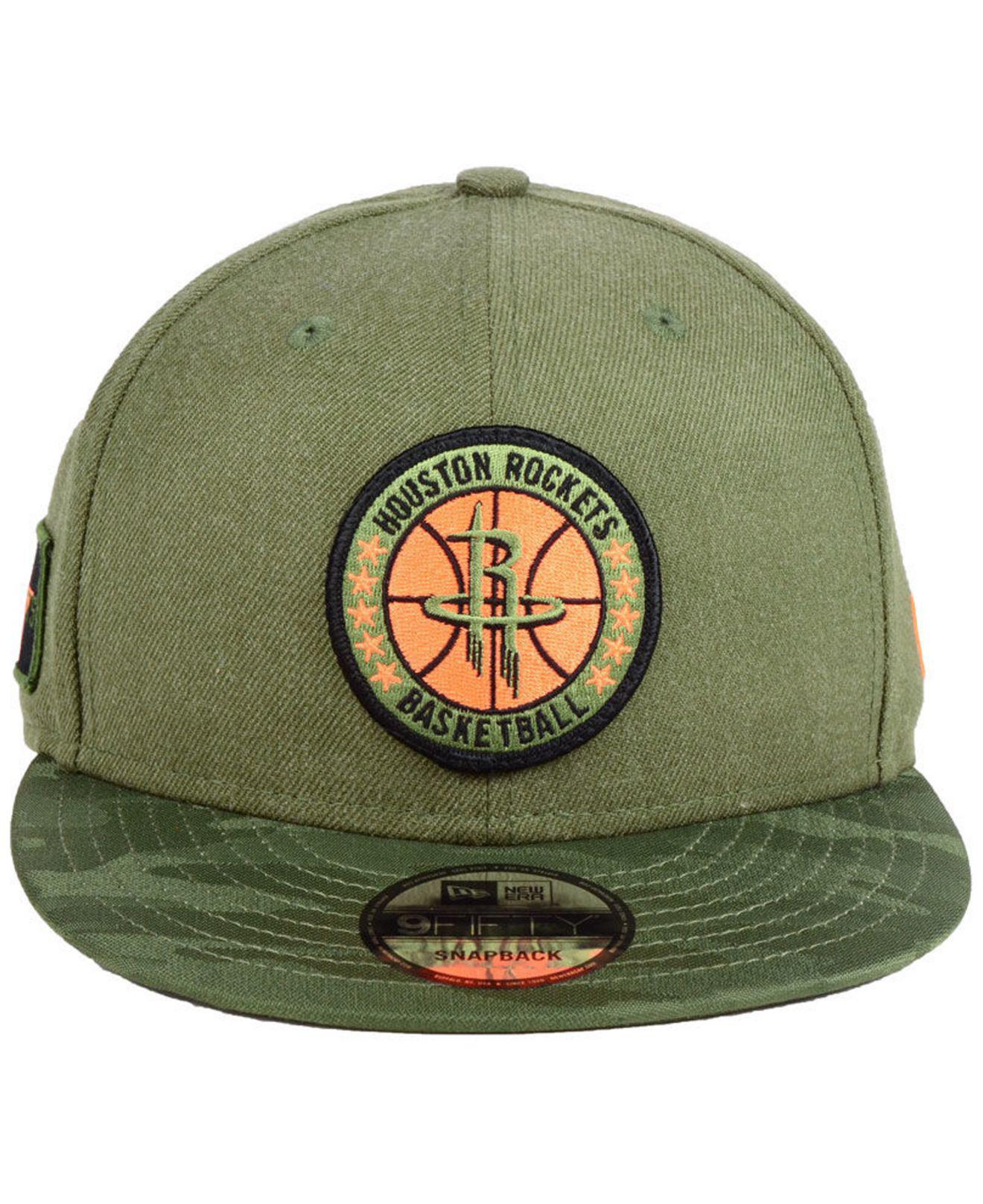 finest selection 2caf6 eab9a ... spain lyst ktz houston rockets tip off 9fifty snapback cap in green for  men 0924b bb349