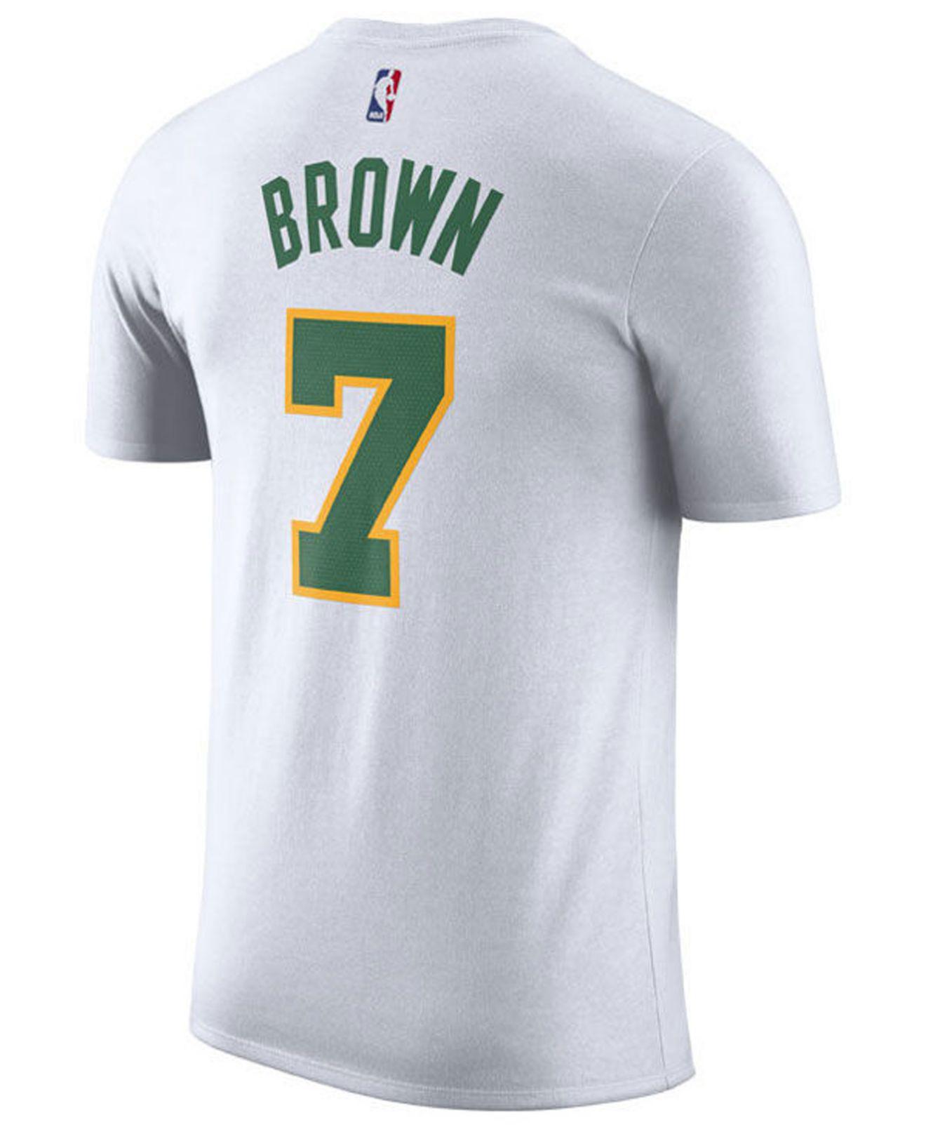 57a8e3af0 Lyst - Nike Jaylen Brown Boston Celtics City Player T-shirt 2018 in White  for Men