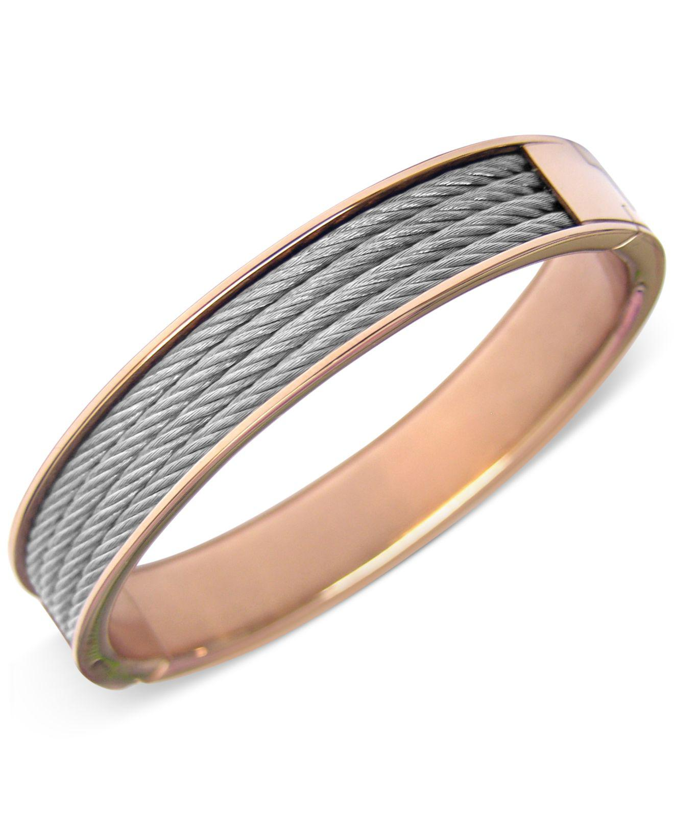 Lyst - Charriol Womens Two-tone Cable Bangle Bracelet in Metallic