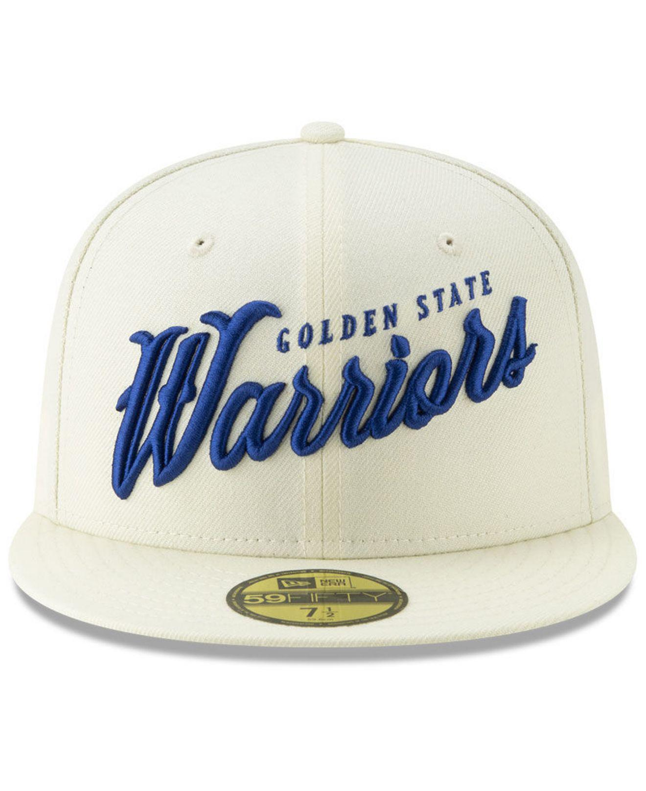 timeless design ca654 b88dc ... promo code for lyst ktz golden state warriors jersey script 59fifty  fitted cap for men 3cc82