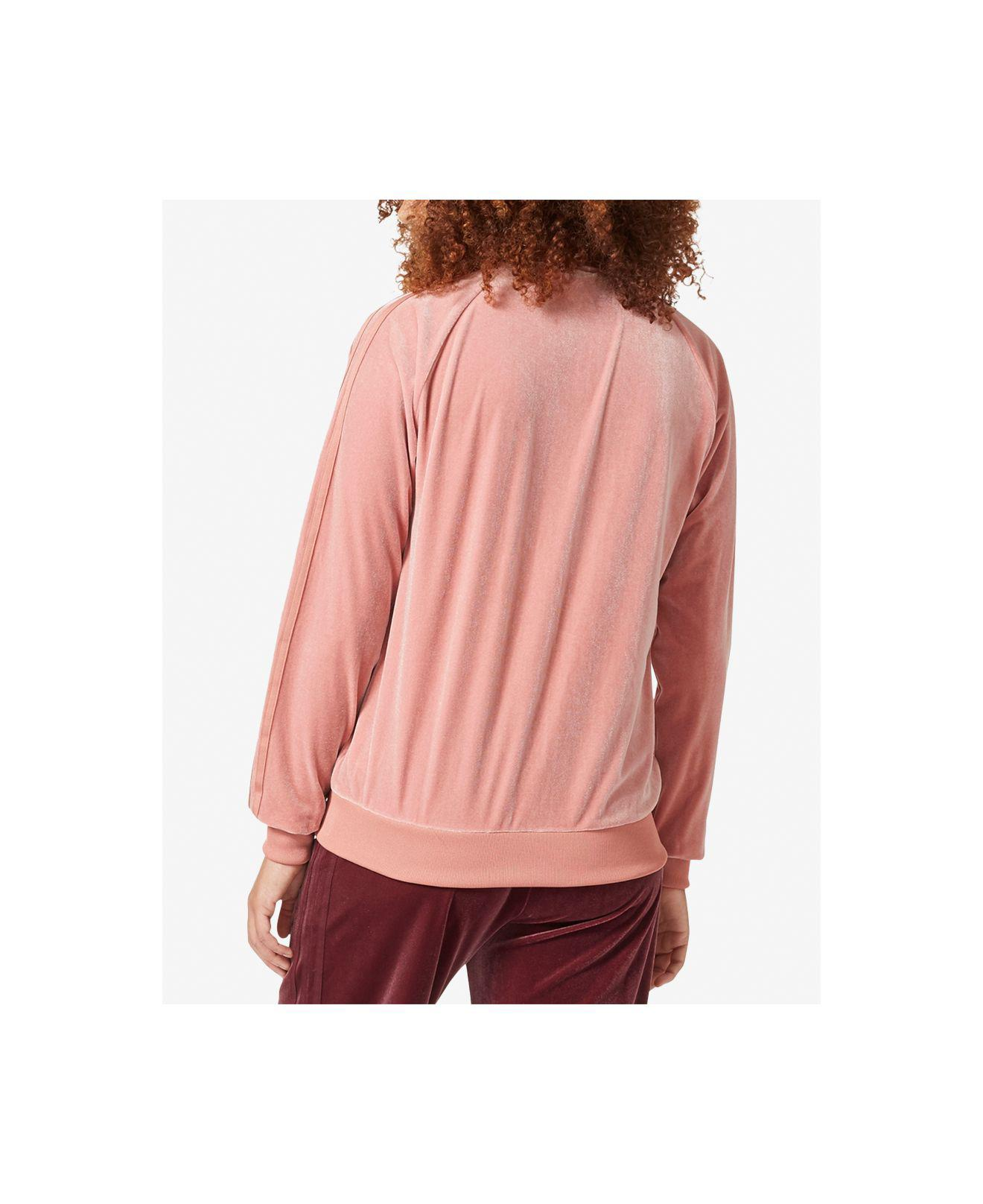 8fbe8a31e6d Lyst - adidas Originals Velvet Vibes Track Jacket in Pink