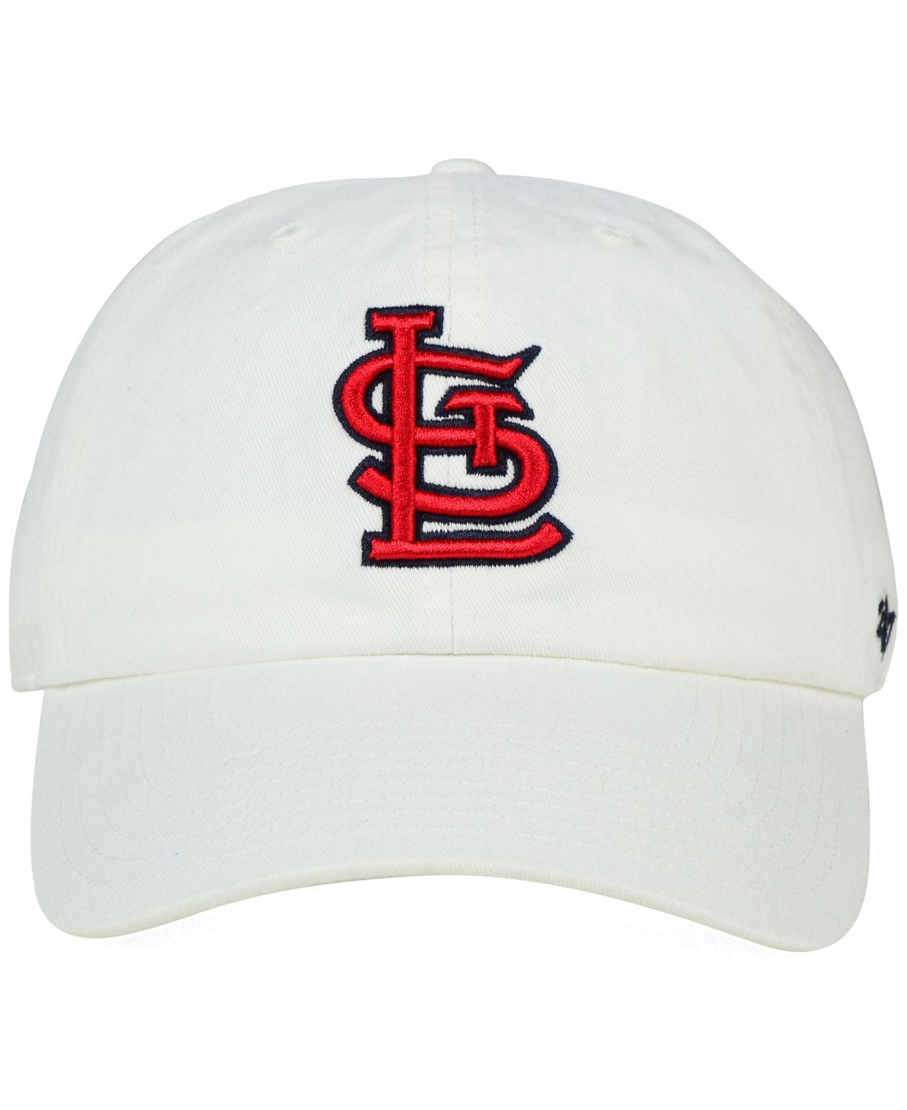 the latest 36c7f 362e5 Lyst - 47 Brand St. Louis Cardinals Core Clean Up Cap in White for Men