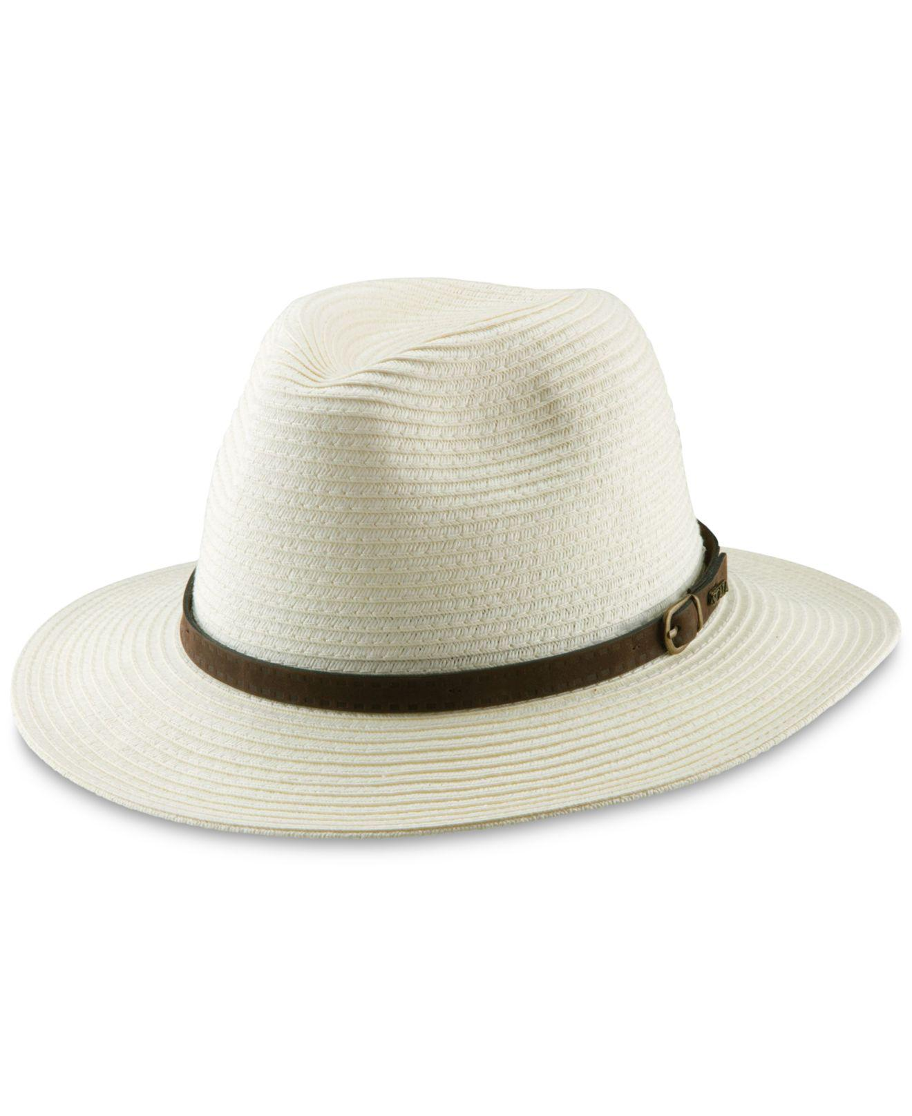 Lyst - Dorfman Pacific Paper Fedora in White for Men 086a5668db04