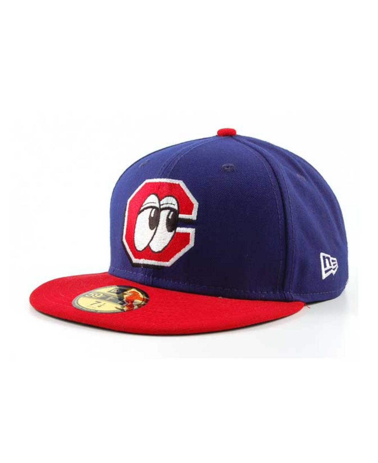 Chattanooga Lookouts Hat: Ktz Chattanooga Lookouts Milb 59fifty Cap In Red For Men