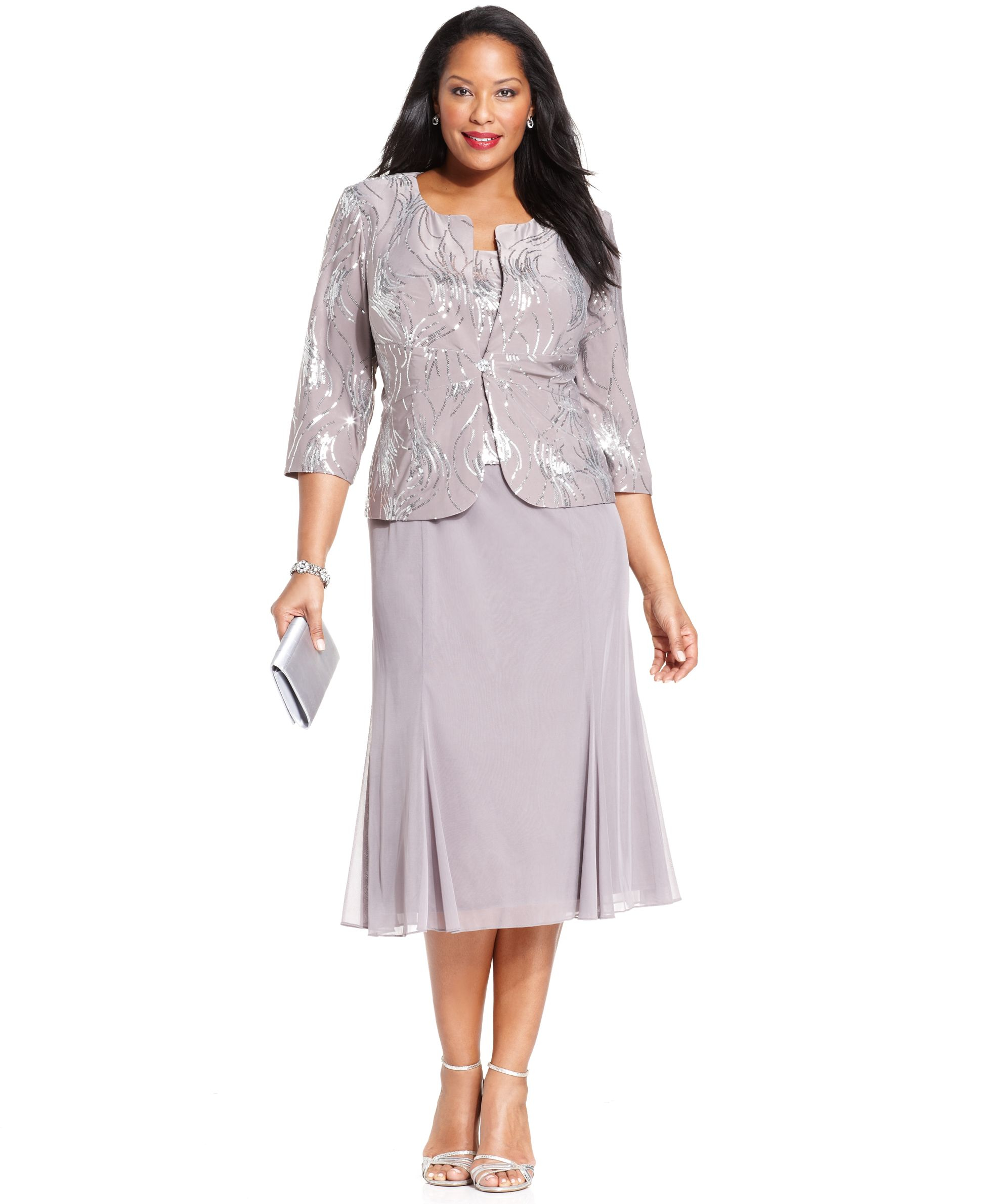 Plus Size Special Occasion Dresses With Jackets - Dress Foto and Picture
