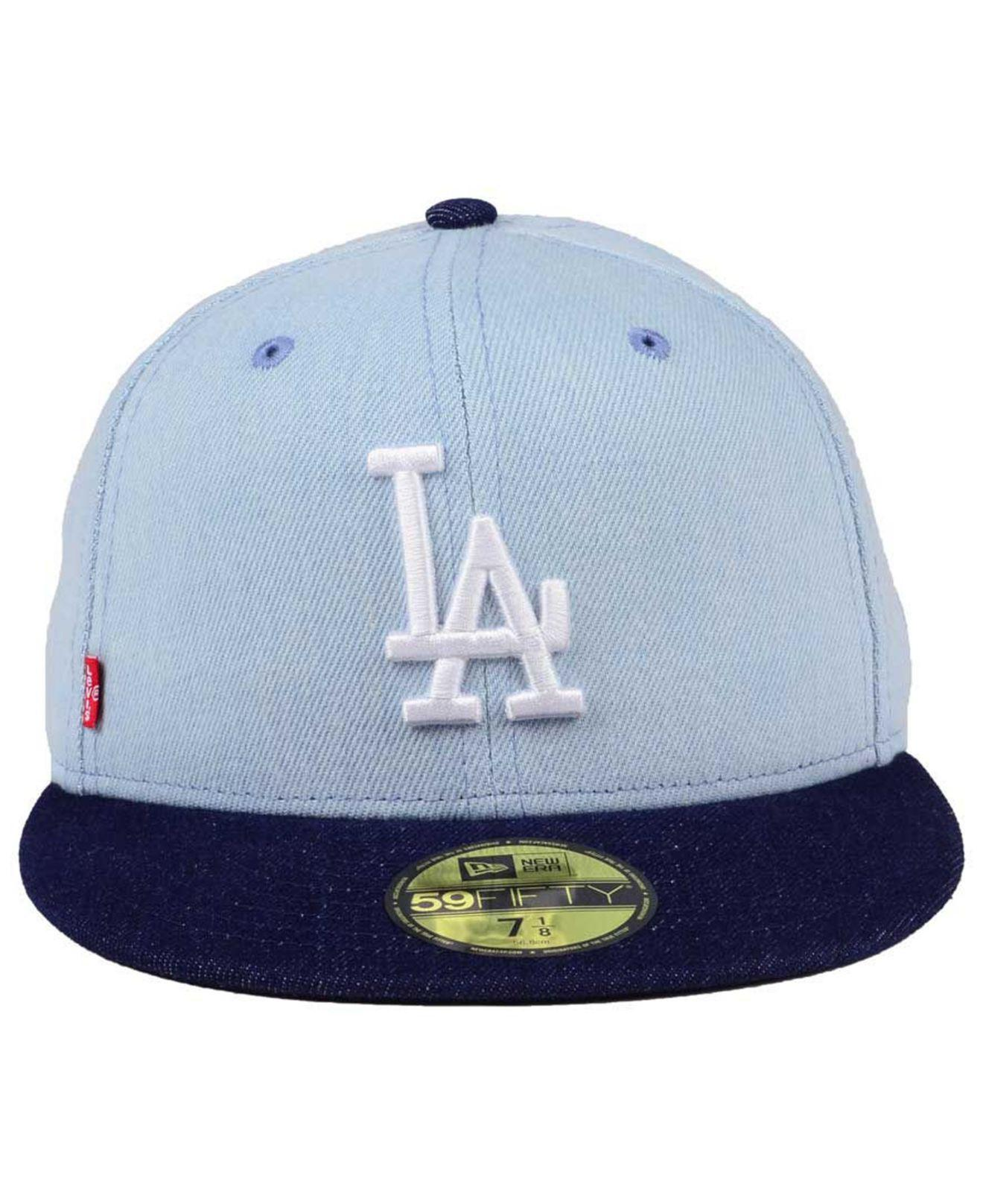 0fe540bc8e6 Lyst - Ktz Los Angeles Dodgers X Levi 59fifty Fitted Cap in Blue for Men