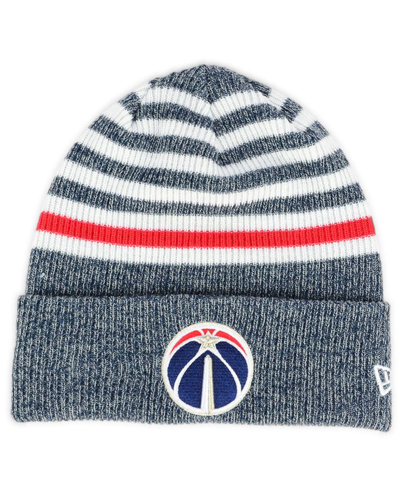 Lyst - Ktz Washington Wizards Striped Cuff Knit Hat in Blue for Men 66df0e09e20