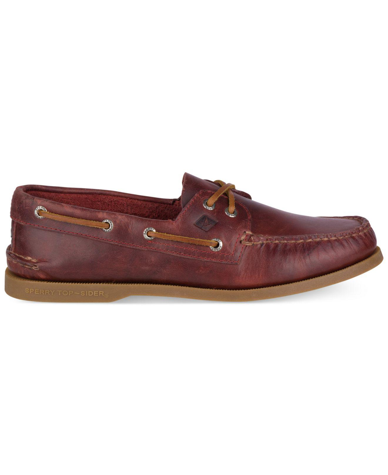 166bfdf828d Lyst - Sperry Top-Sider Men s A o 2 Eye Wax Leather Loafers for Men