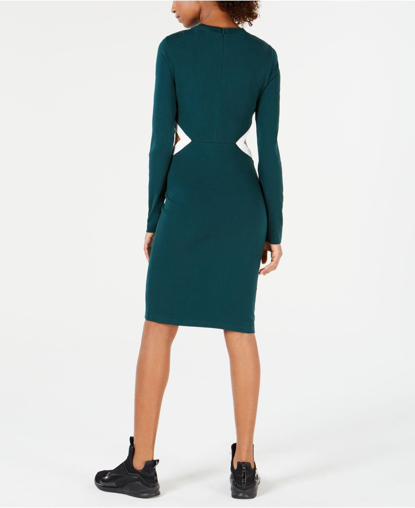 3e69d651f PUMA - Green Classics Logo Bodycon Dress - Lyst. View fullscreen