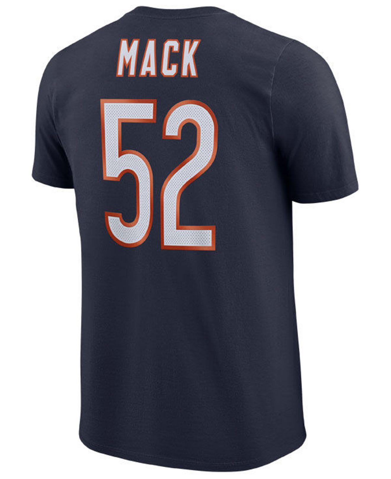 2263c1b7882 Nike - Blue Khalil Mack Chicago Bears Pride Name And Number Wordmark T-shirt  for. View fullscreen
