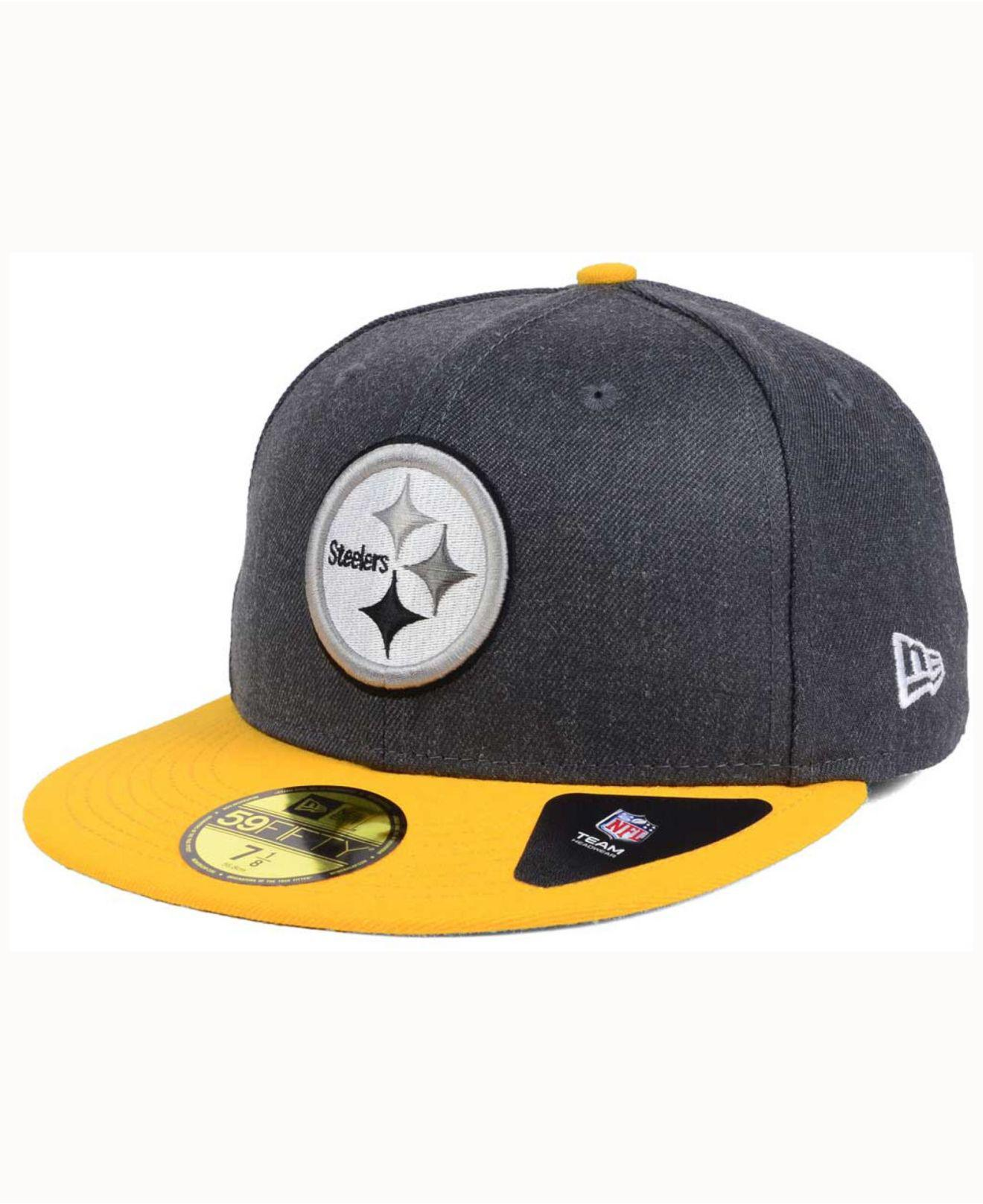new concept 8b905 49f98 Lyst - KTZ Pittsburgh Steelers Shader Melt 59fifty Cap for Men