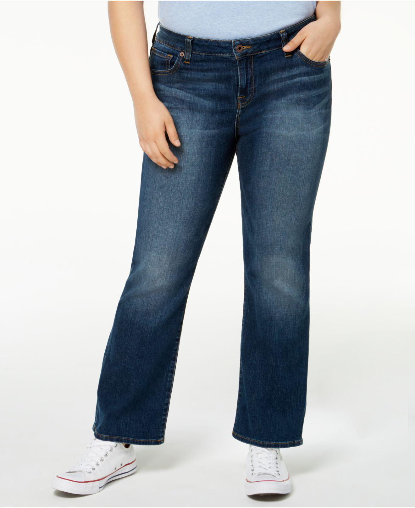 e447512b27d Lyst - Lucky Brand Trendy Plus Size Petite Ginger Bootcut Jeans in Blue