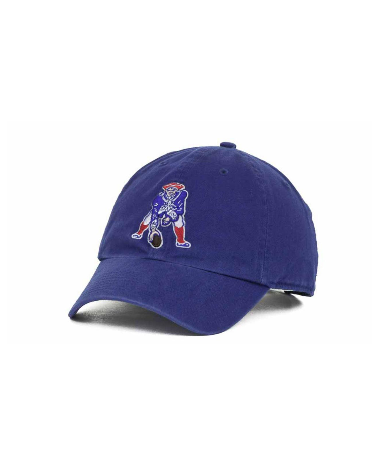 9771b4832fe00 Lyst - 47 Brand New England Patriots Clean Up Cap in Blue for Men