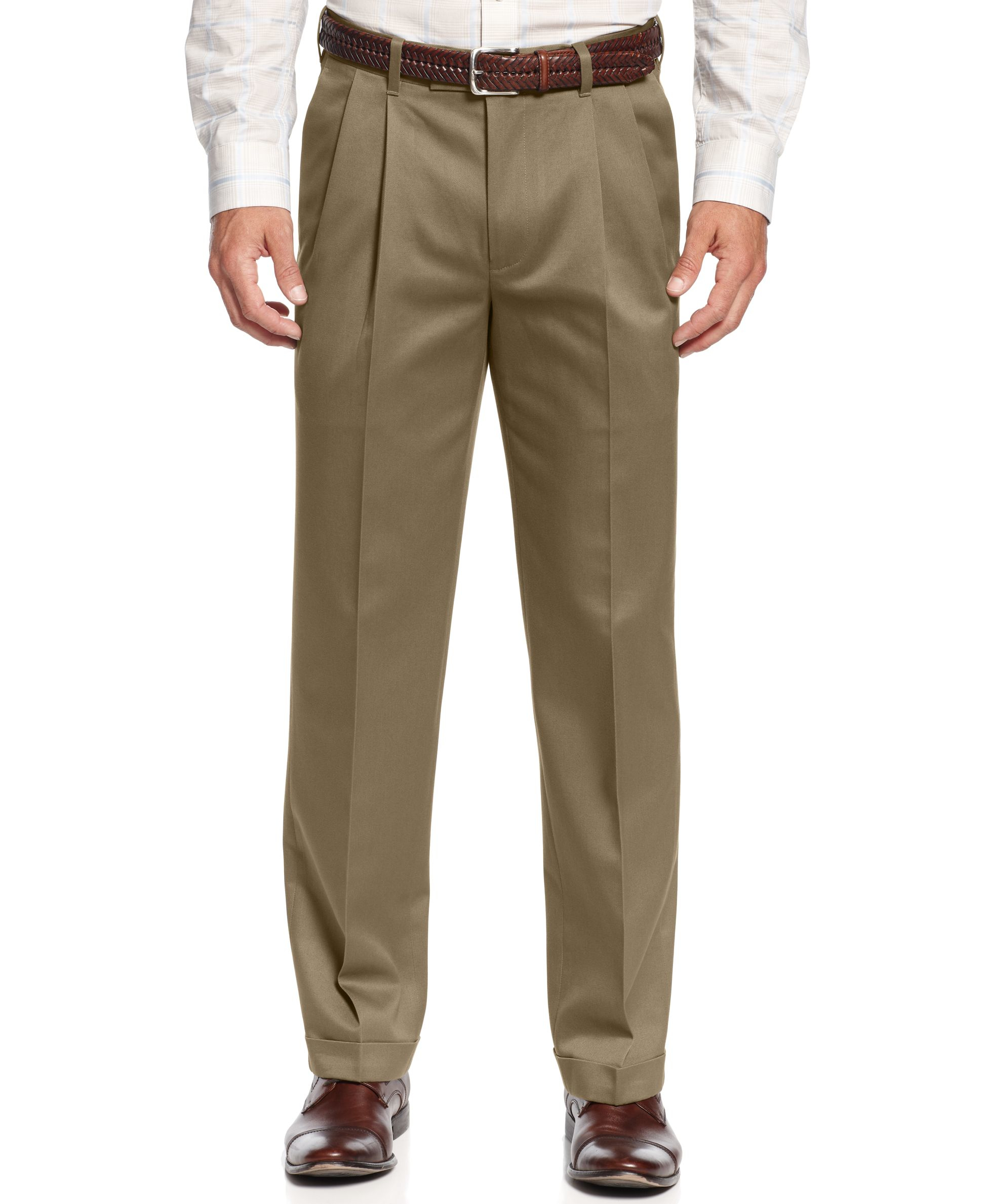 Perry Ellis Portfolio Classic Fit No Iron Double Pleated