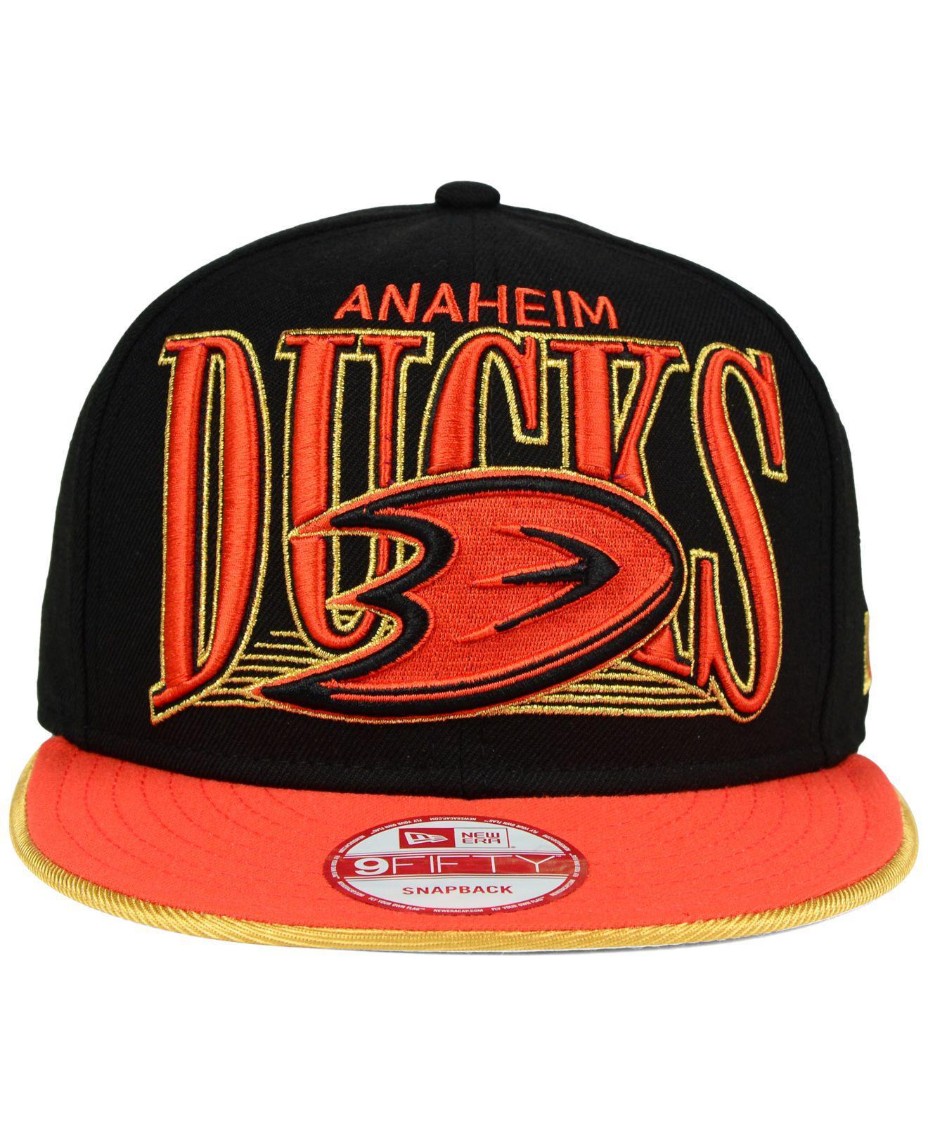 buy popular eb475 80d87 Lyst - KTZ Anaheim Ducks Ice Block 9fifty Snapback Cap in Black for Men