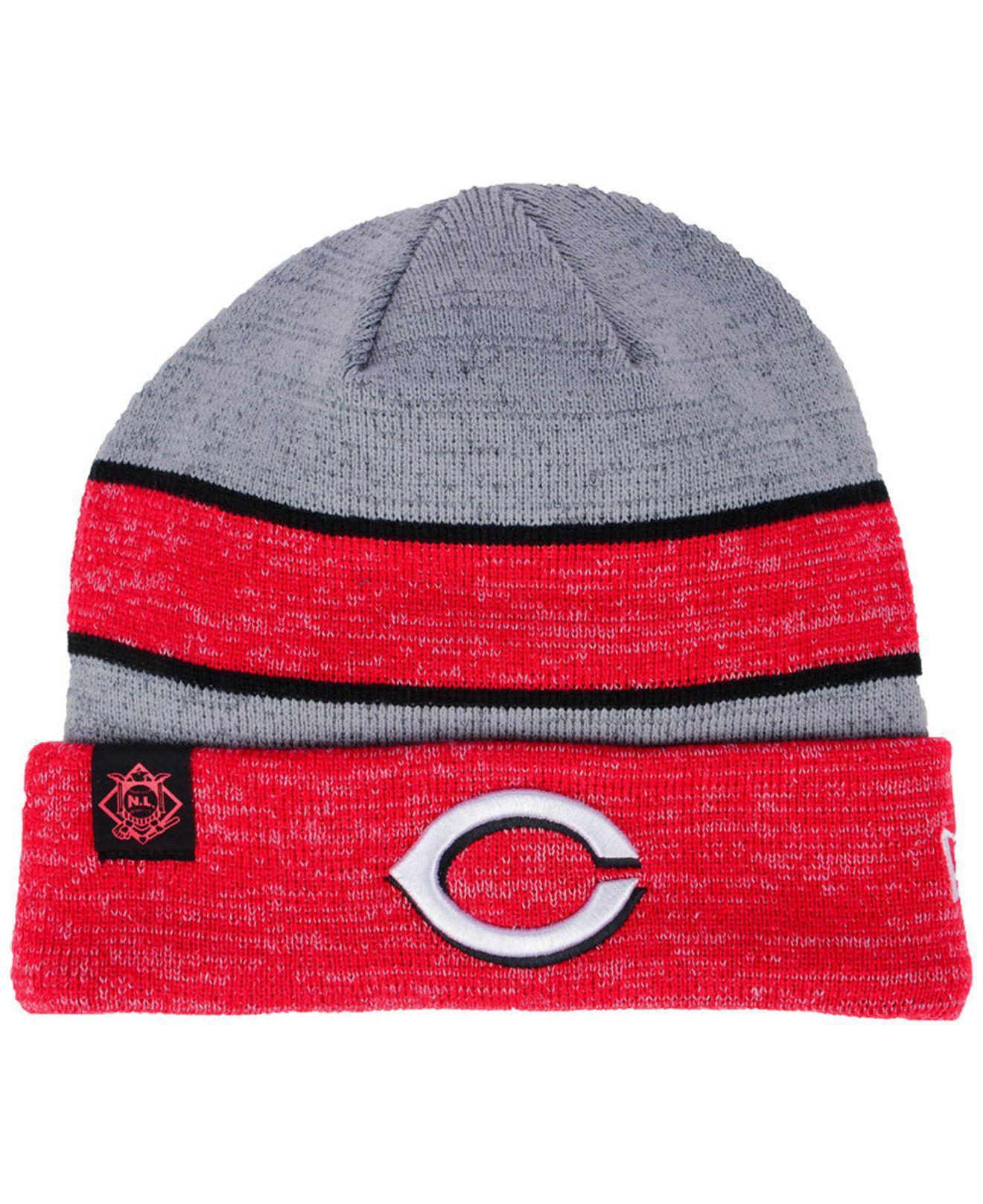 c380e13fb86 Lyst - KTZ Cincinnati Reds On Field Sport Knit Hat in Red for Men