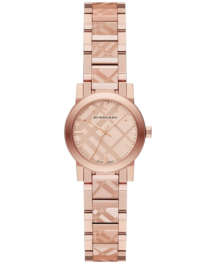 burberry s swiss gold tone stainless steel