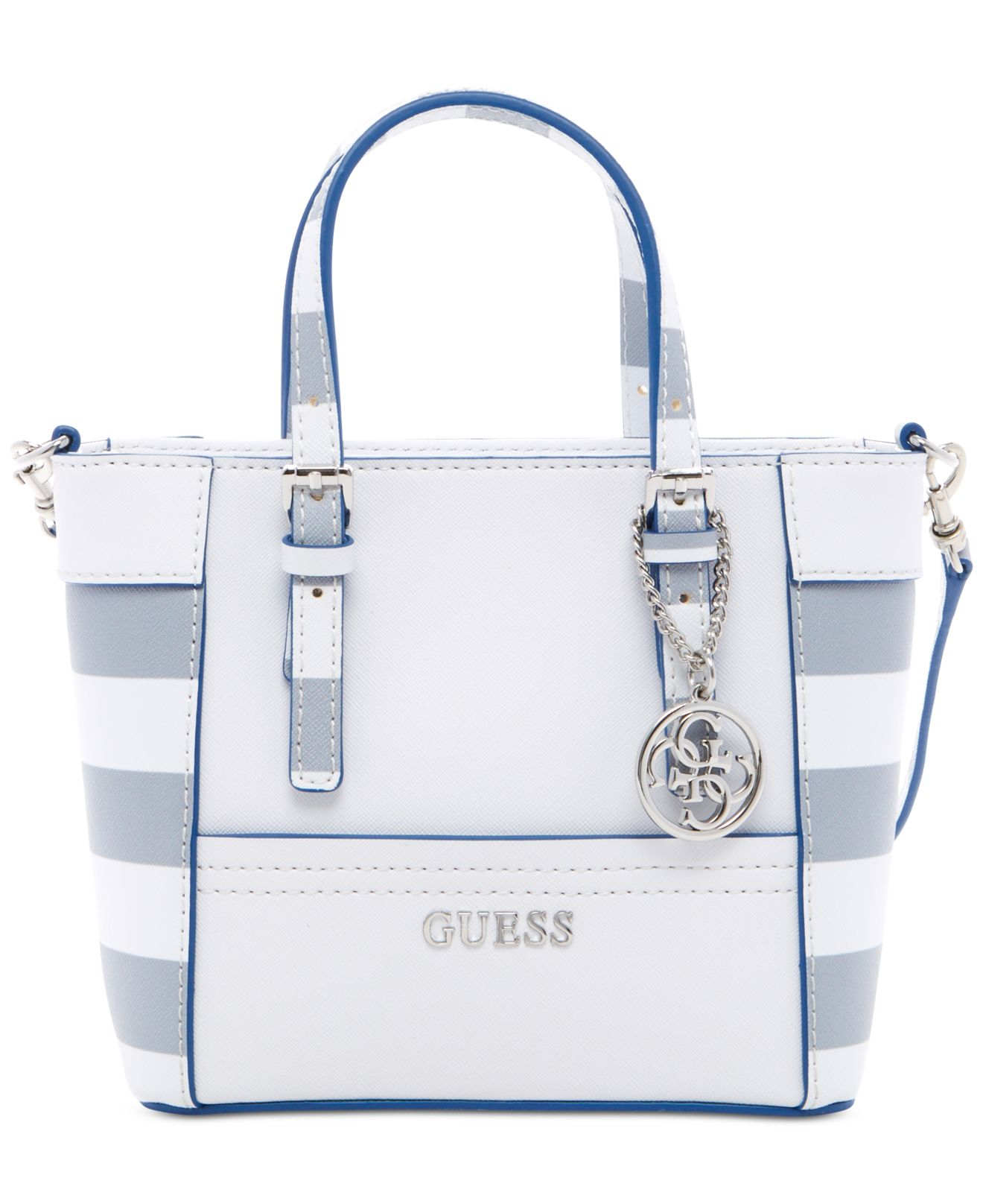0ca564f56ba89 Lyst guess delaney petite tote with crossbody strap in gray jpg 1320x1616 Guess  handbag grey