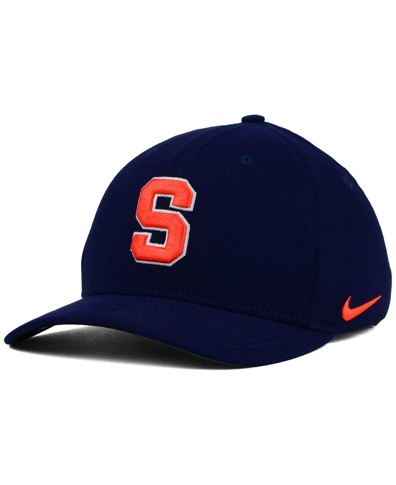 86ec5d7121b sale syracuse nike lacrosse hat sold bb809 03c3f  hot lyst nike syracuse  orange classic swoosh cap in blue for men 8d8f8 070d1