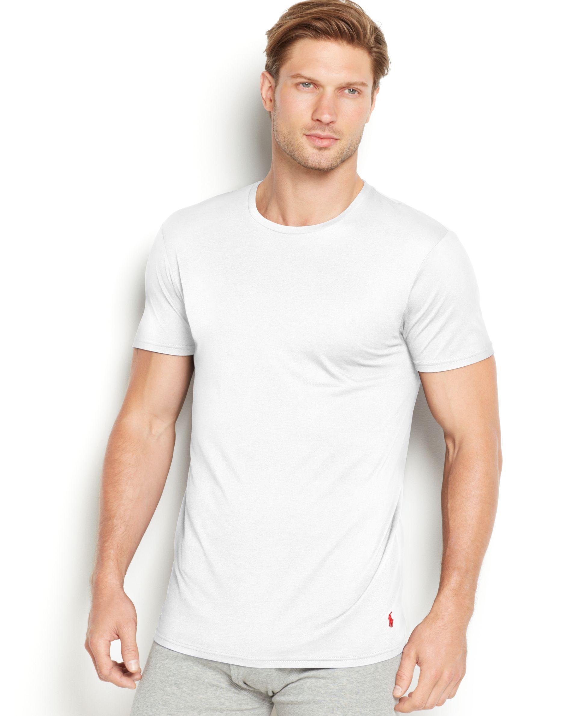 645dcfbe1473 Polo Ralph Lauren Men's Supreme Comfort Crew-neck T-shirt 2-pack in ...
