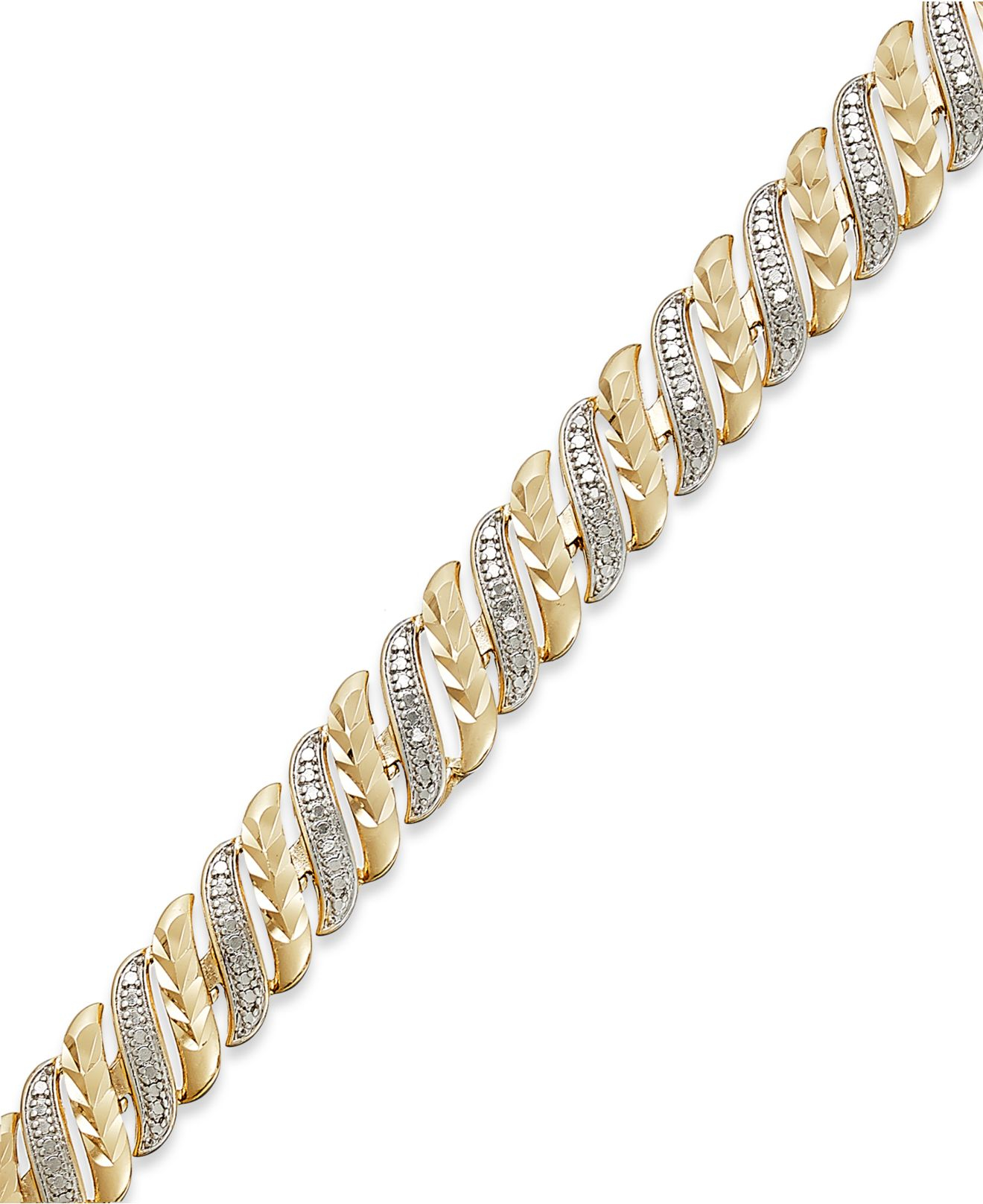 macy s accent swirl bracelet in sterling silver