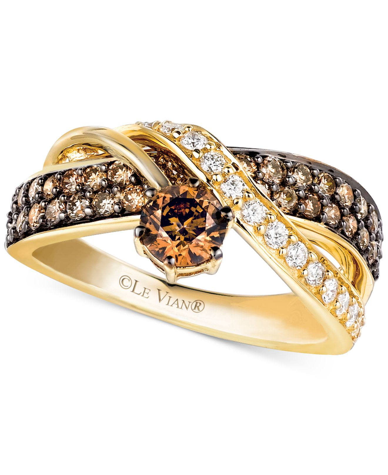 Crossover Chocolate Diamond Ring