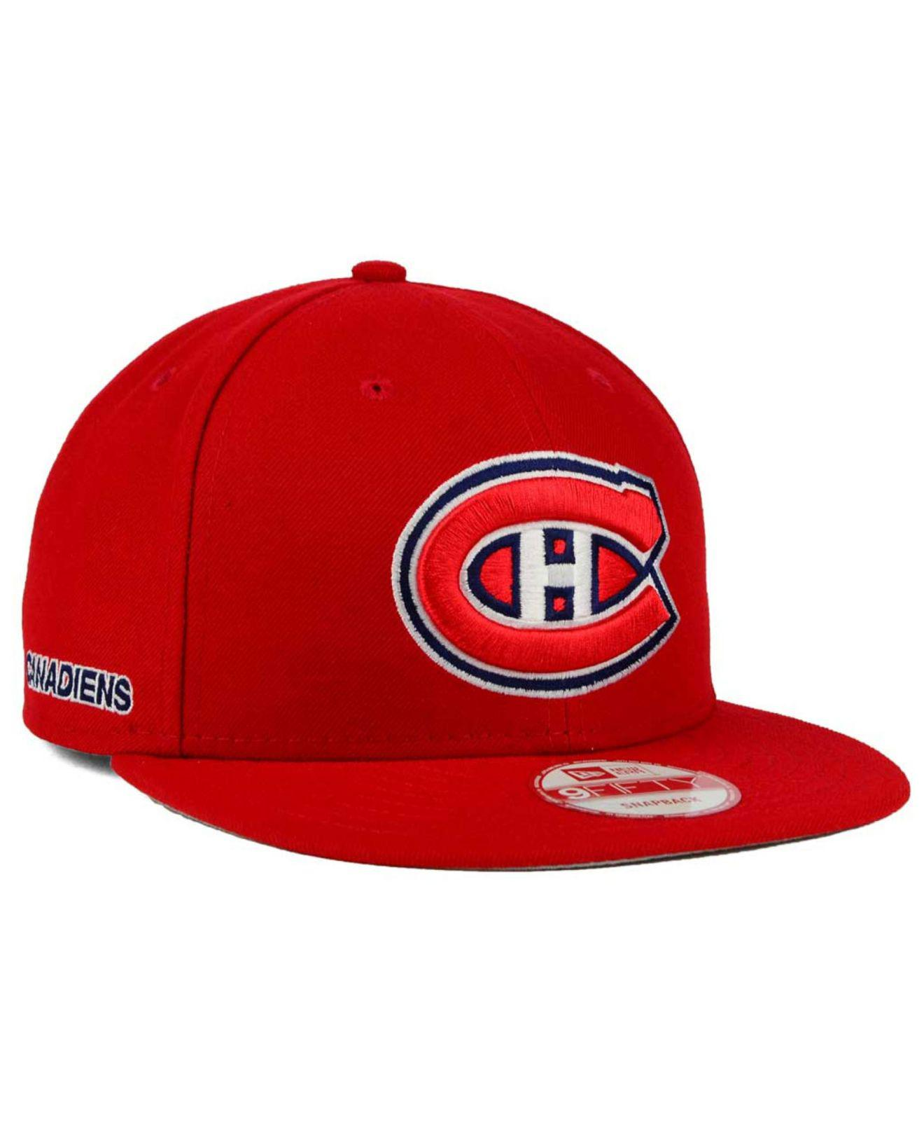 KTZ - Red Montreal Canadiens All Day 9fifty Snapback Cap for Men - Lyst.  View fullscreen df21b99df674
