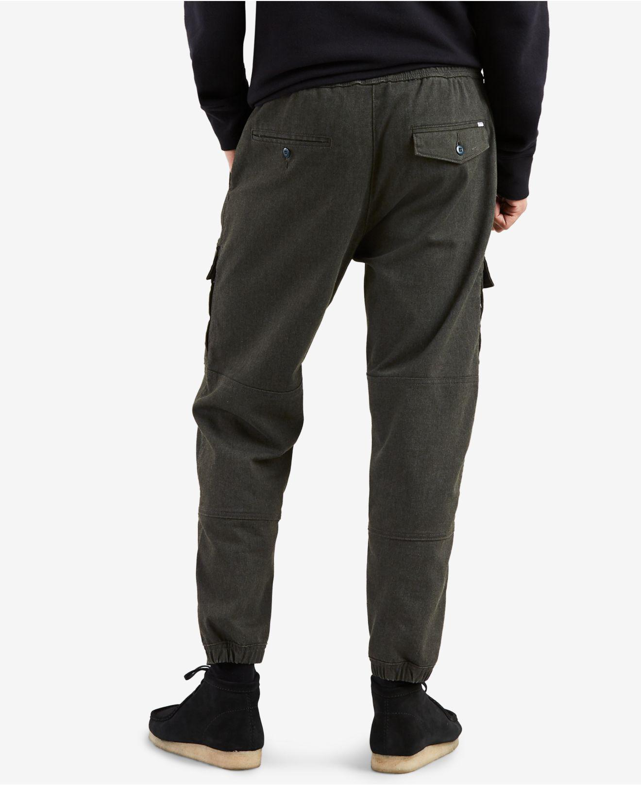 5ed013a2 Levi's Utility Essentials Stretch Cargo Joggers in Black for Men - Lyst