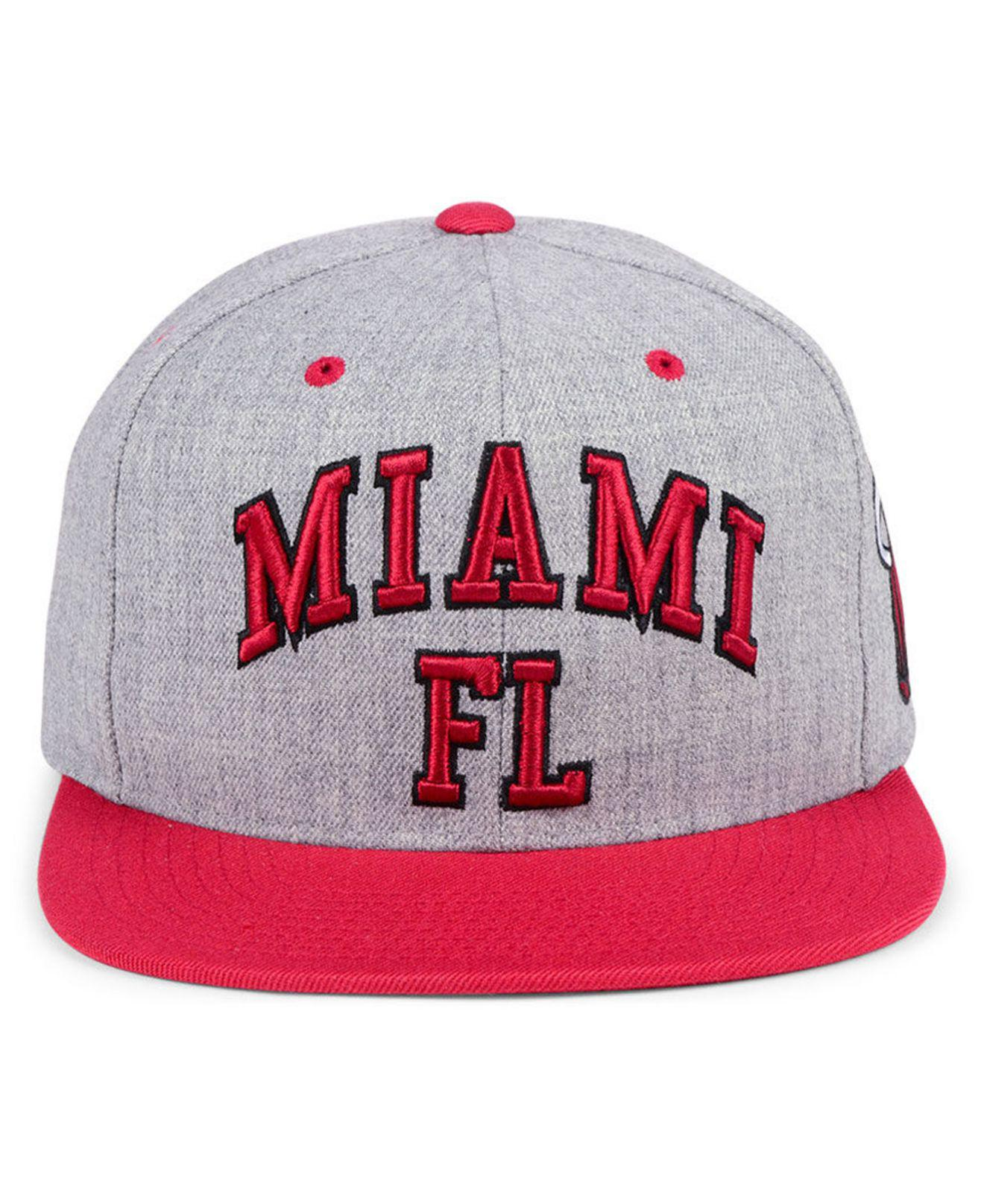 buy popular 4b129 f1246 ... sale lyst mitchell ness miami heat side panel cropped snapback cap for  men a75c3 b1d53