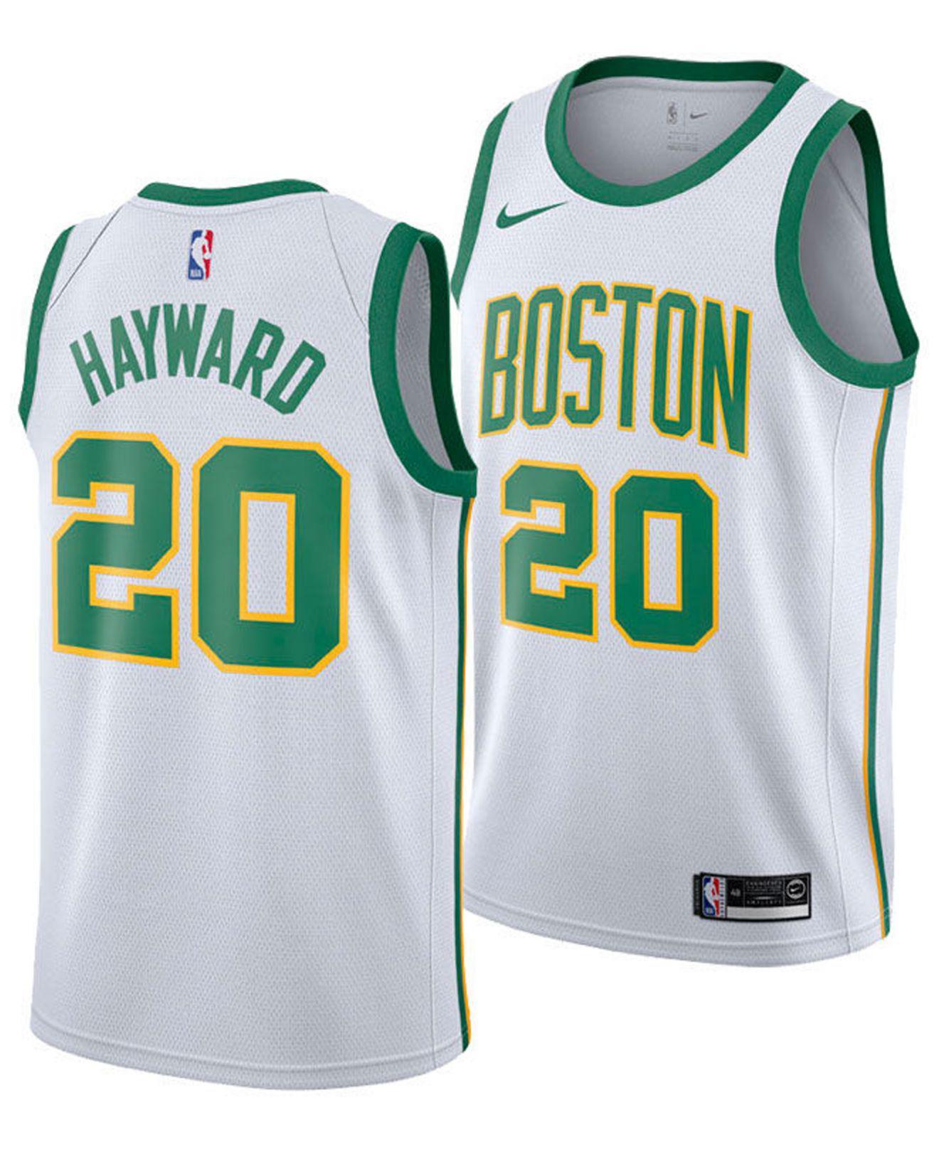 99ab622ff Nike. Men s White Gordon Hayward Boston Celtics City Swingman Jersey 2018
