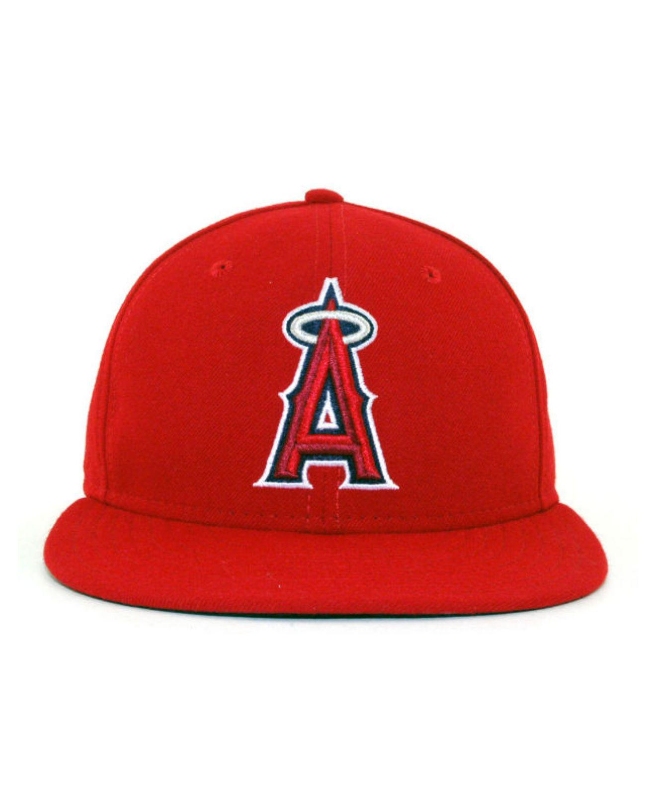 online store 30aee 90c5c Lyst - Ktz Los Angeles Angels Of Anaheim Mlb Authentic Collection 59fifty  Cap in Red for Men