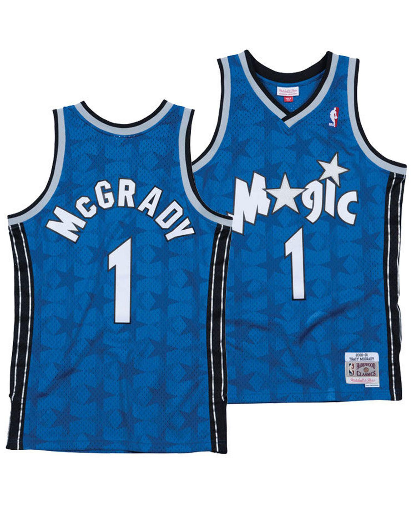 Mitchell   Ness. Men s Blue Tracy Mcgrady Orlando Magic Hardwood Classic Swingman  Jersey 90599ee02