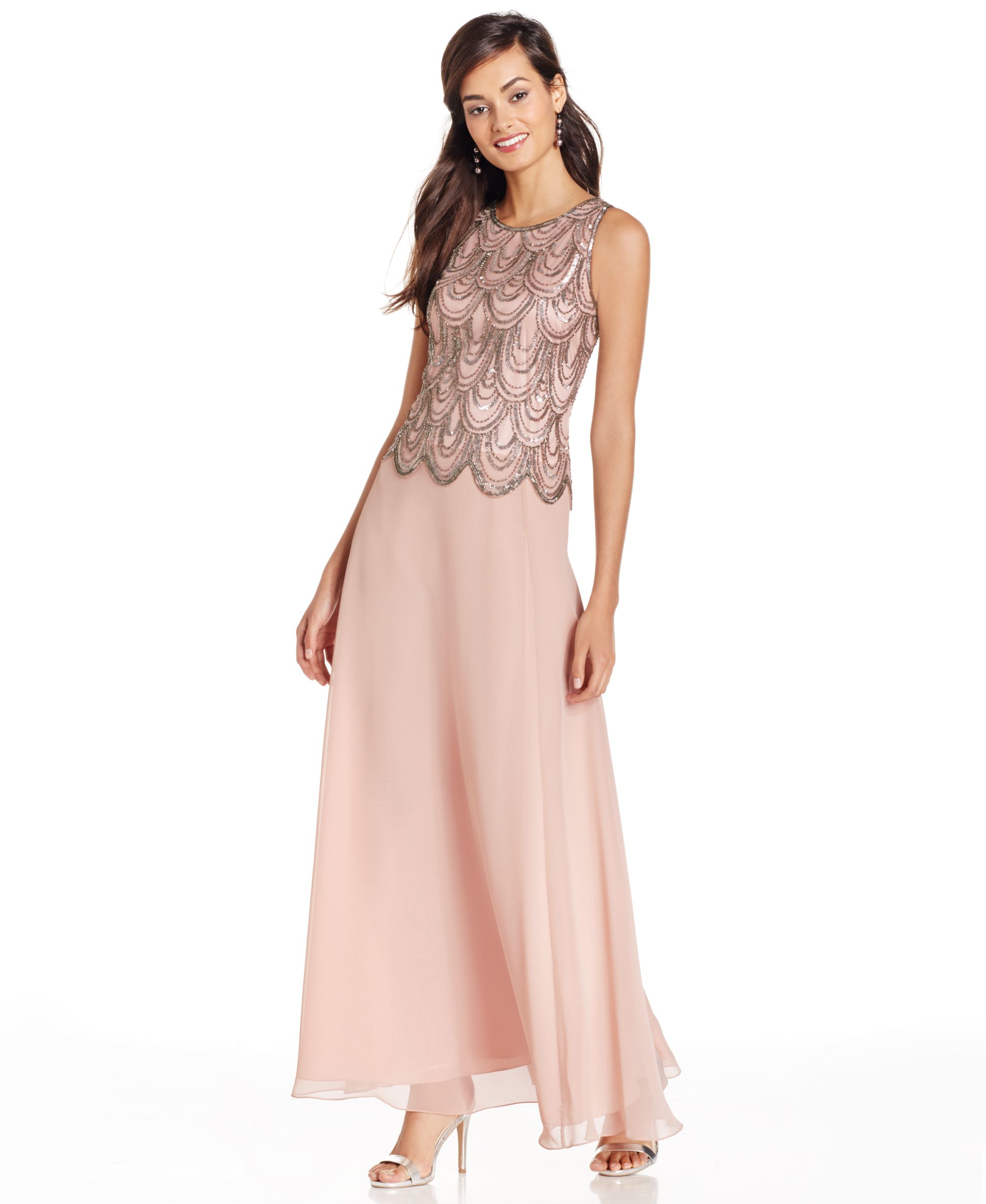 Fine J Kara Embellished Chiffon Gown Collection - Wedding and ...