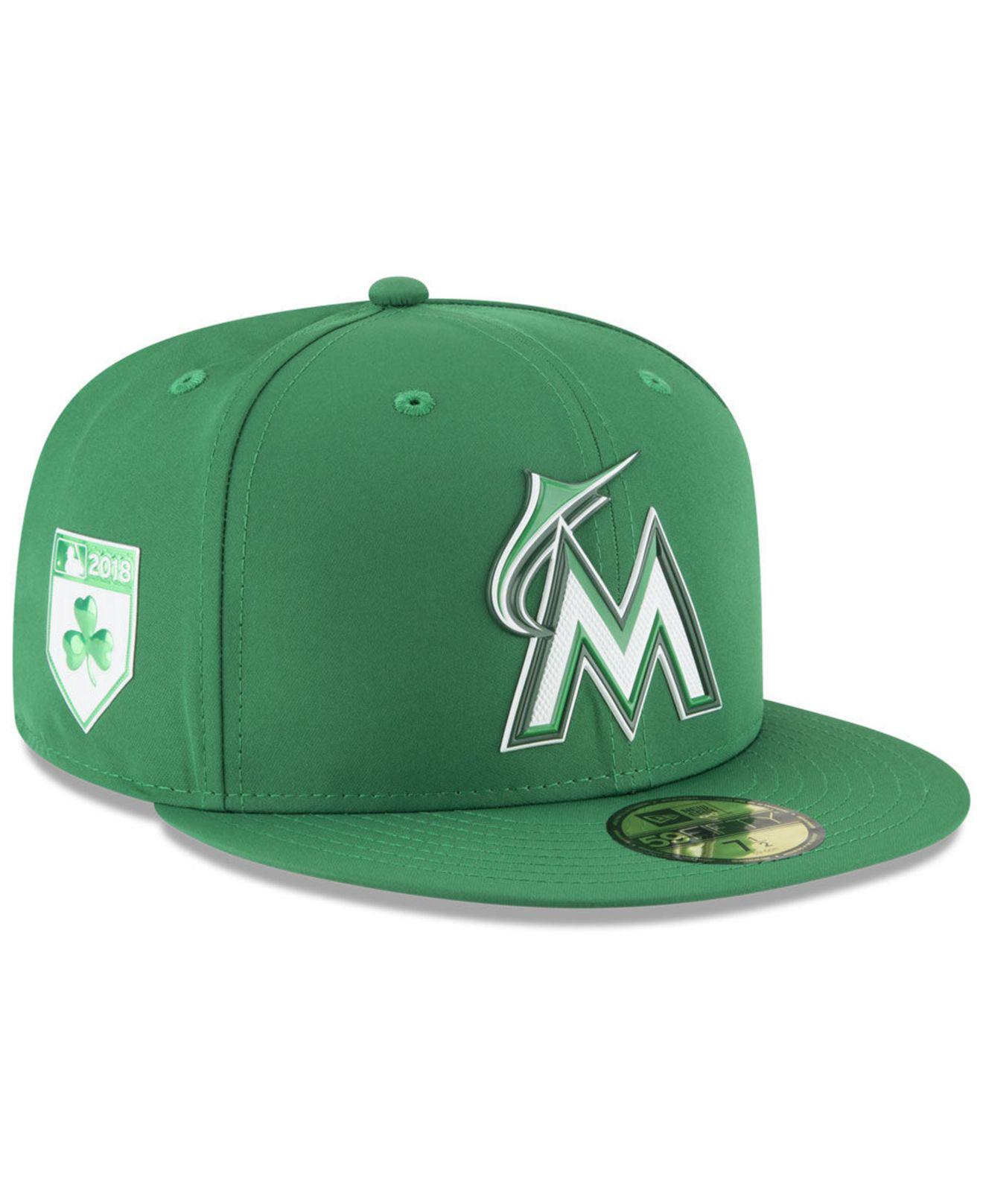 Lyst - Ktz Miami Marlins St. Patty s Day Pro Light 59fifty Fitted ... c5a35f4300f3