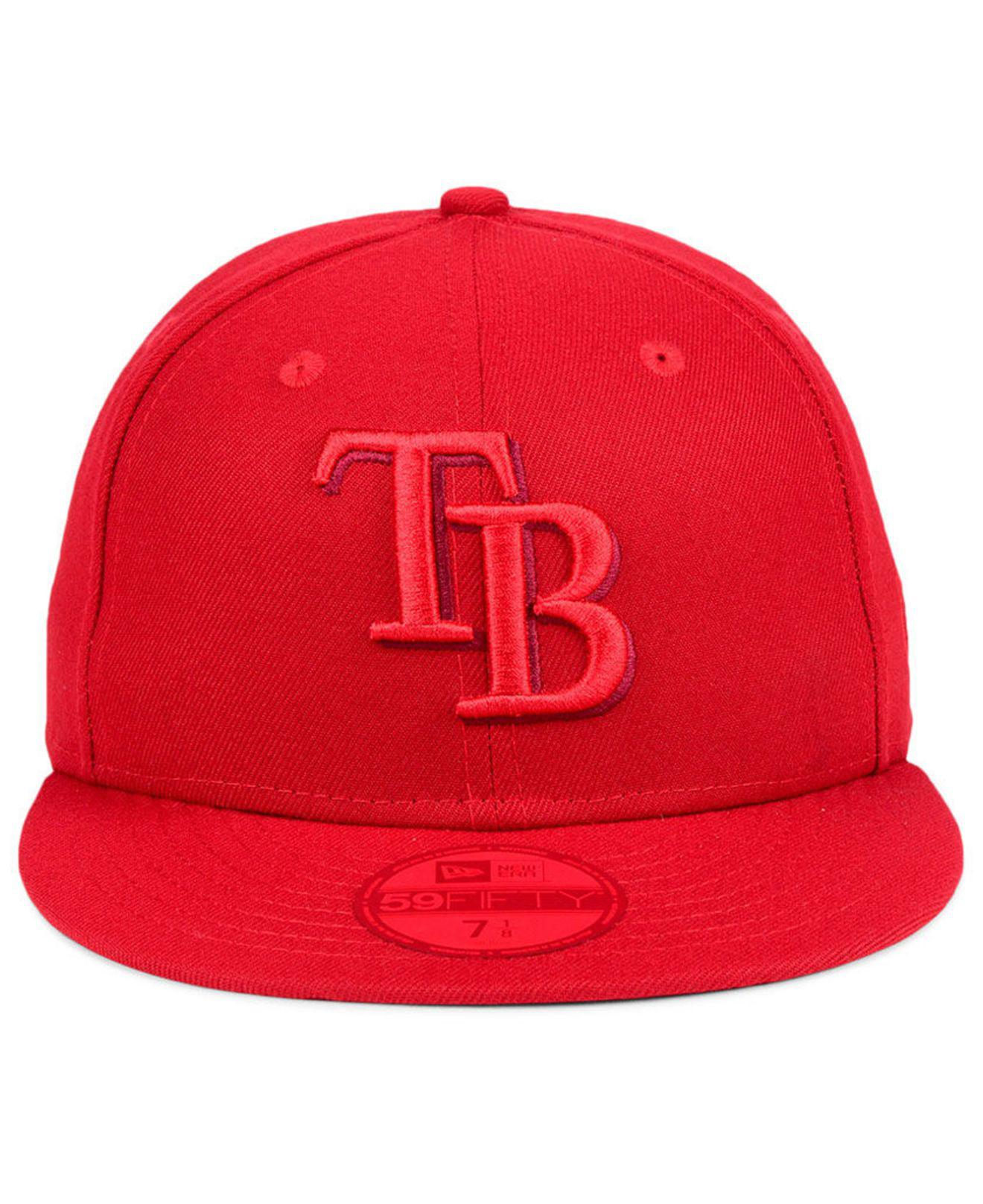 size 40 b177a 43079 ... cheapest lyst ktz tampa bay rays prism color pack 59fifty cap in red  for men c7ff2