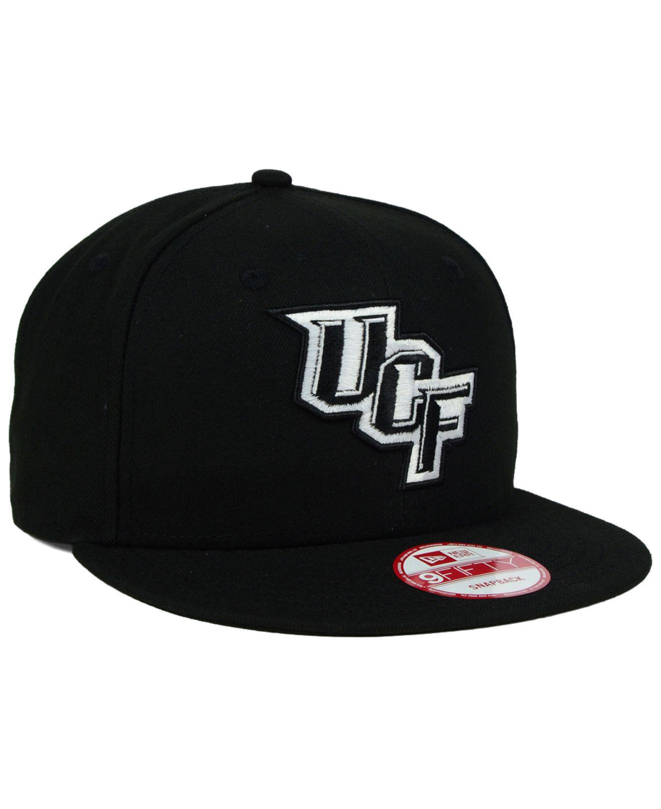 ebf3189cabd KTZ - Ucf Knights Black White 9fifty Snapback Cap for Men - Lyst. View  fullscreen