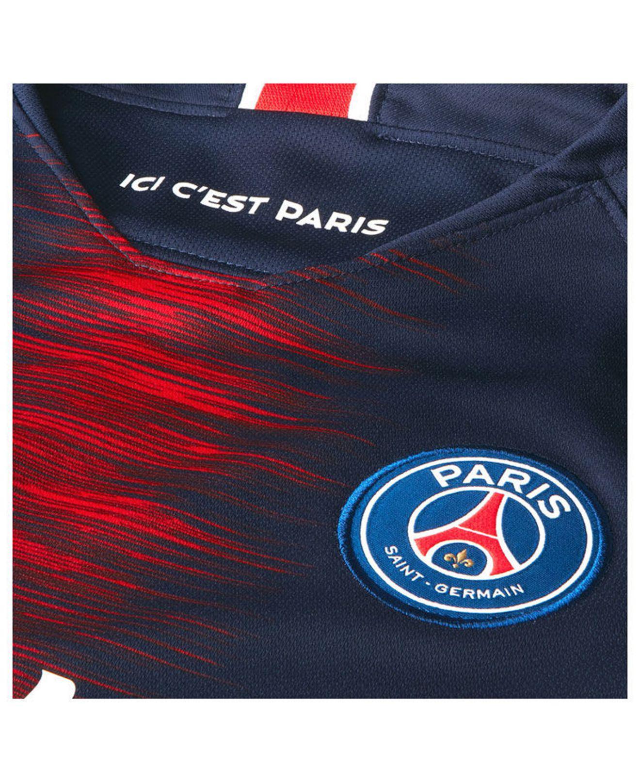 6194c44a14ba1 Lyst - Nike 2018 19 Paris Saint-germain Stadium Home Men s Soccer Jersey in  Blue for Men - Save 22%