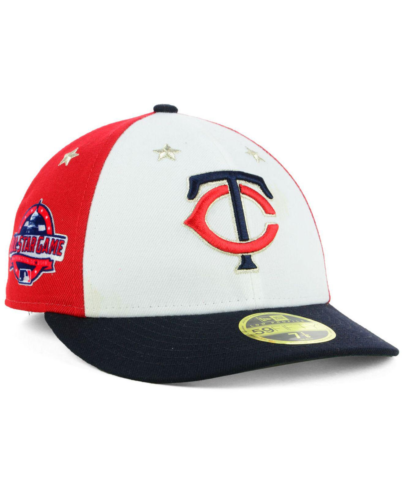 super popular c7bb1 bacc5 KTZ. Men s Minnesota Twins All Star Game Patch Low Profile 59fifty Fitted  Cap 2018