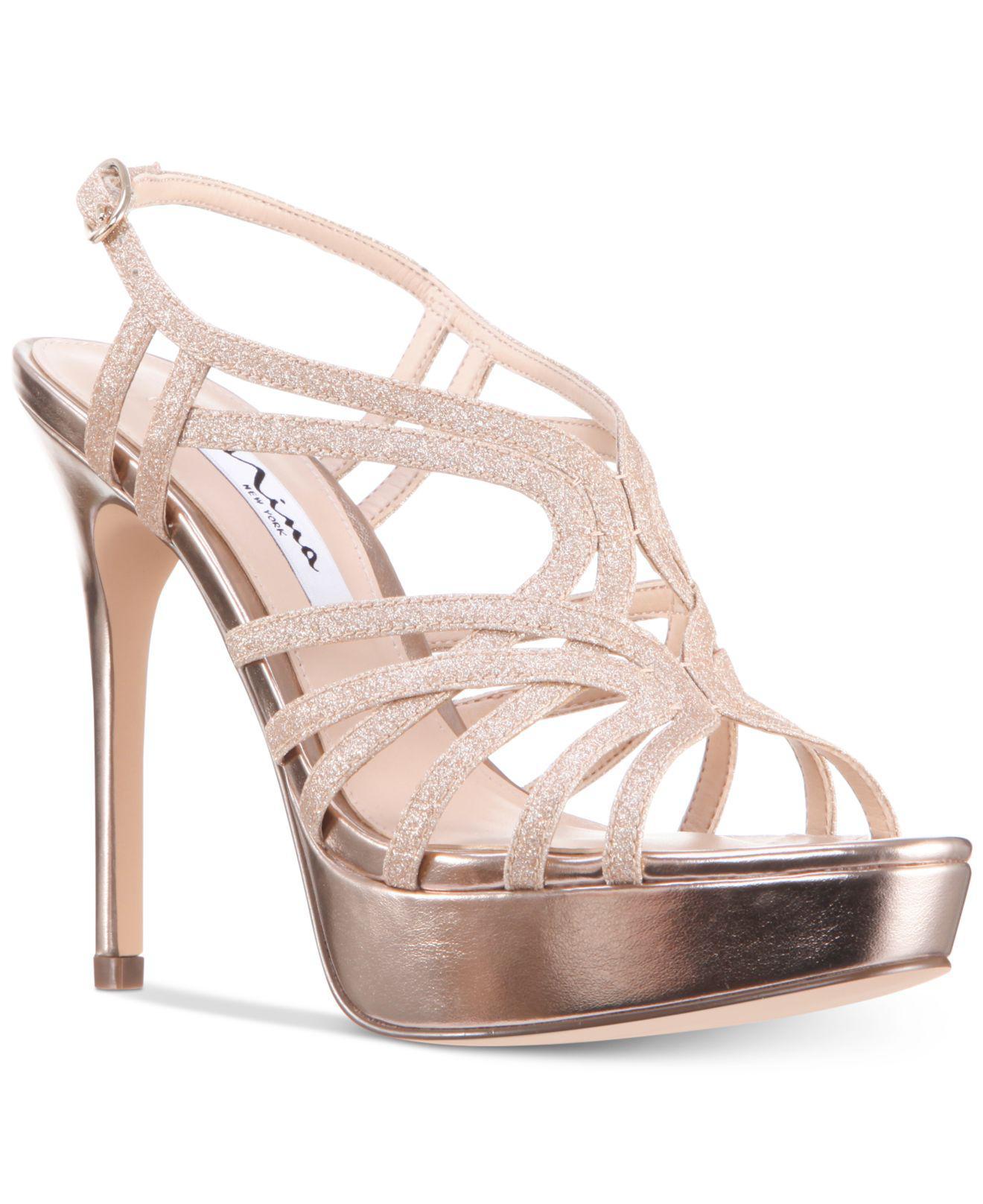 6c039659d42 Lyst - Nina Solina Platform Evening Dress Sandals