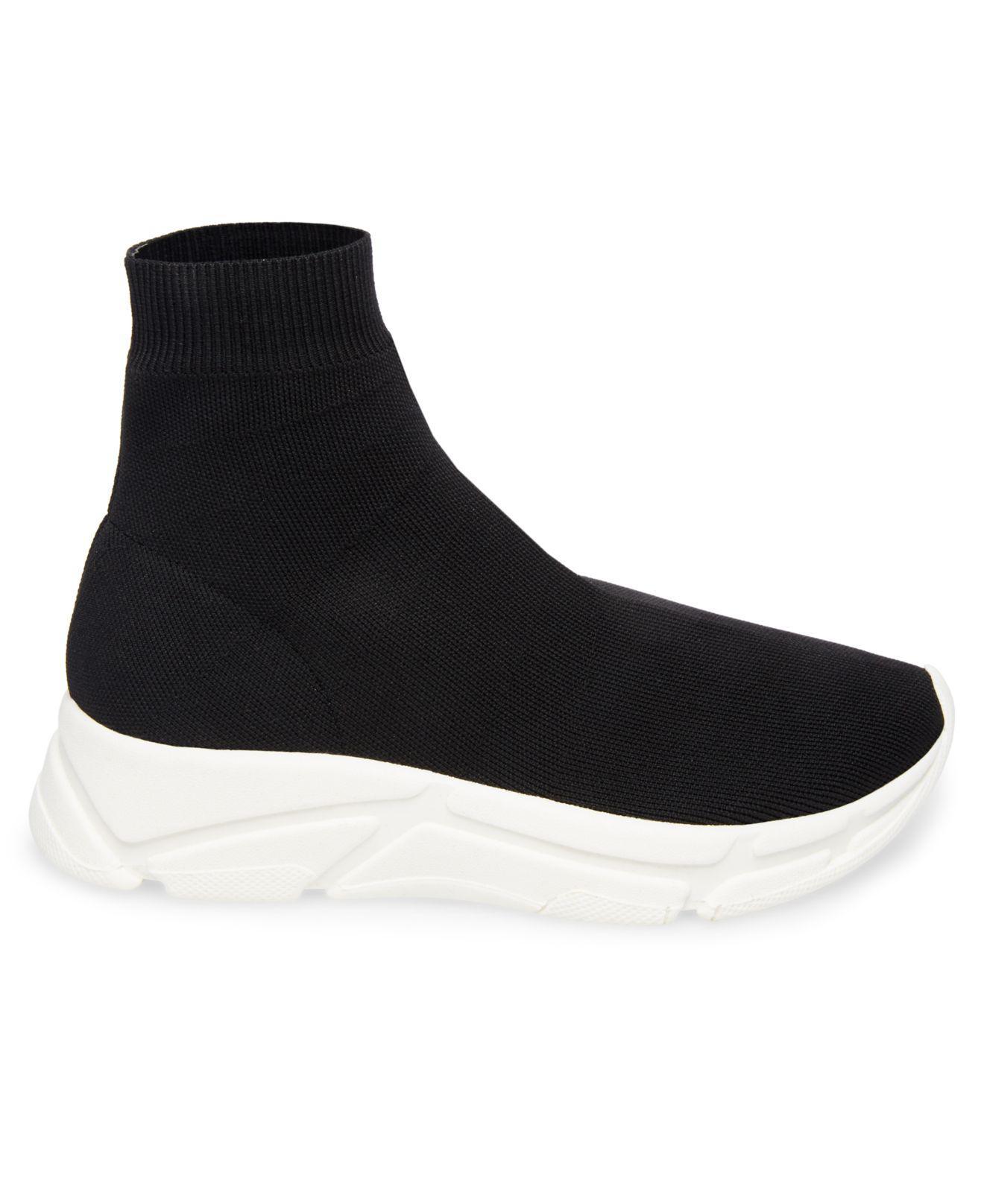 980e8f31d36 Lyst - Steve Madden Bitten Flyknit Sneakers in Black