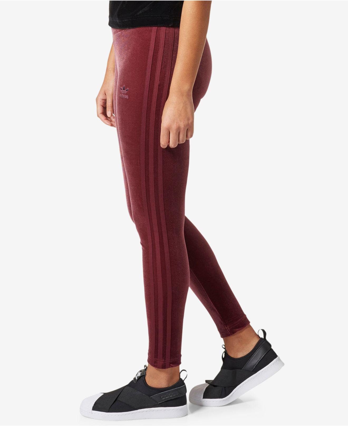 2027f54fa67 adidas Originals Velvet Vibe Leggings in Red - Lyst