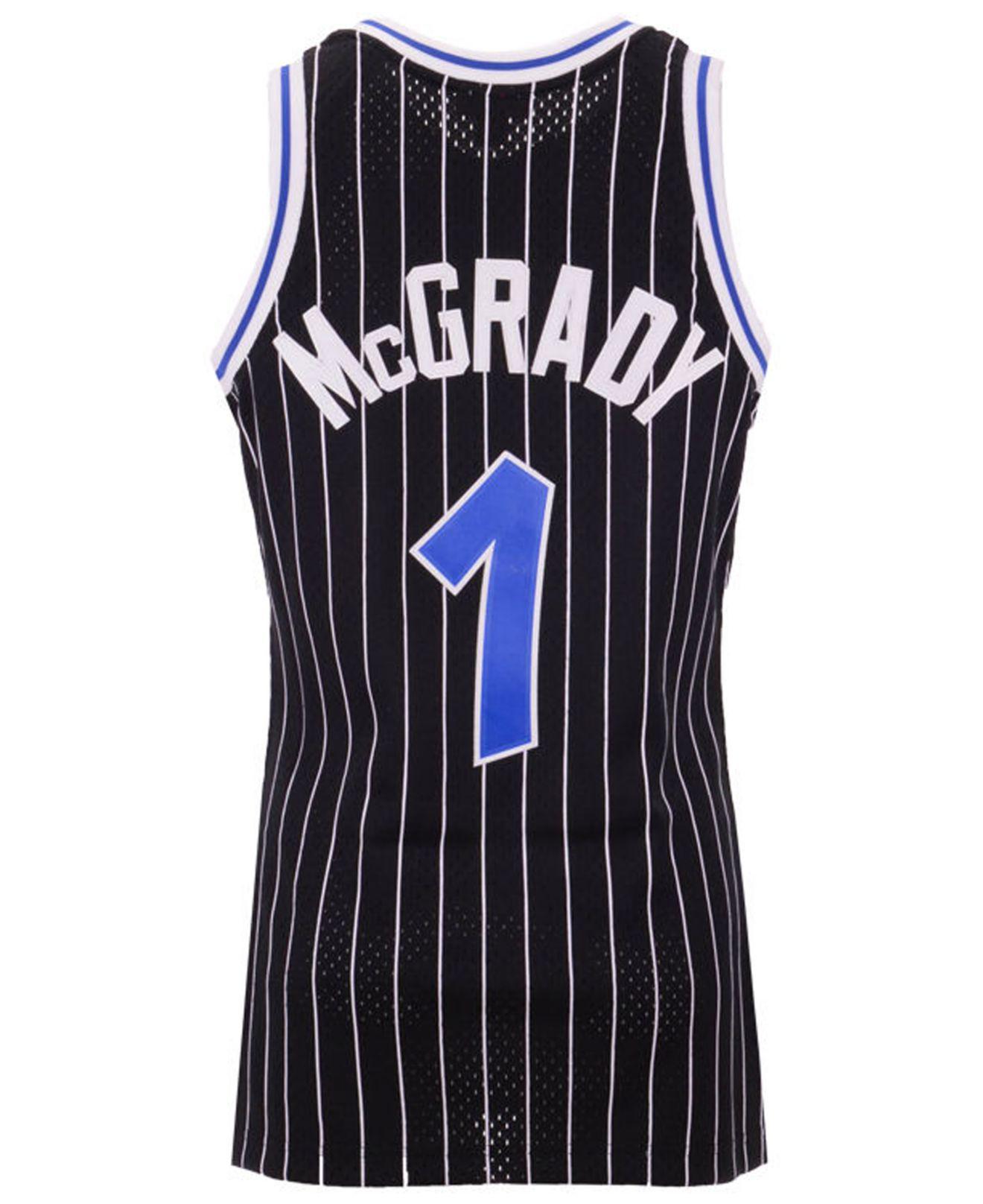 c9f5859874c Mitchell   Ness. Men s Black Tracy Mcgrady Orlando Magic Hardwood Classic  Swingman Jersey