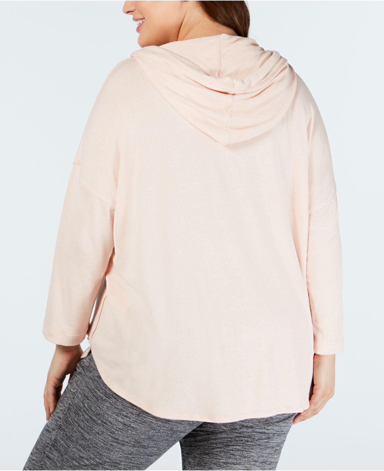 4ac26a825e5 Lyst - Calvin Klein Performance Plus Size 3 4-sleeve Hoodie