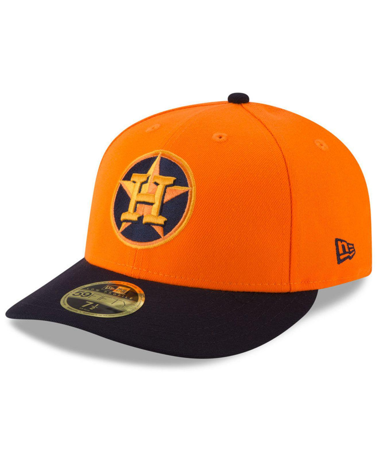 97daa6b0767 KTZ - Orange Houston Astros Players Weekend Low Profile 59fifty Fitted Cap  for Men - Lyst. View fullscreen