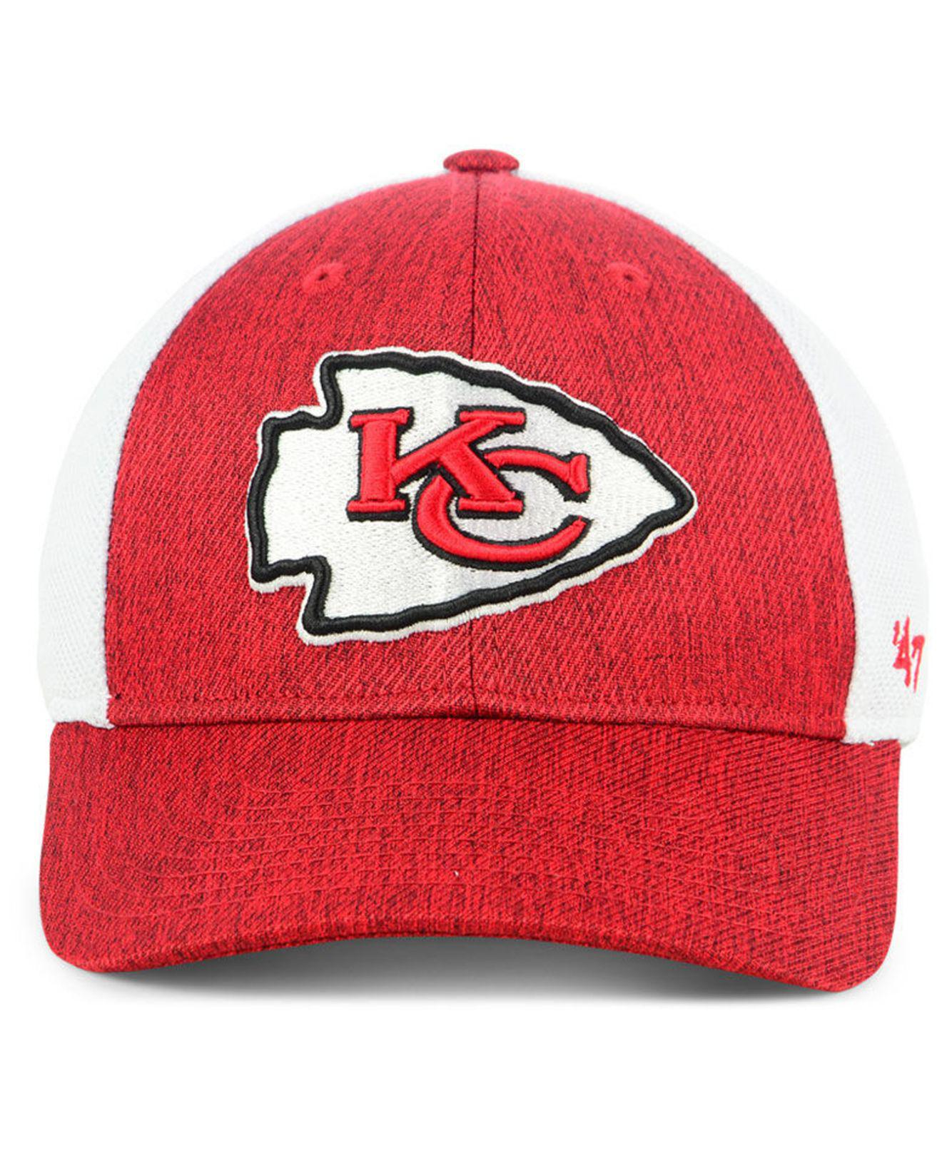info for 8214a 2f49c ... coupon lyst 47 brand kansas city chiefs hazy flex contender stretch  fitted cap in red for