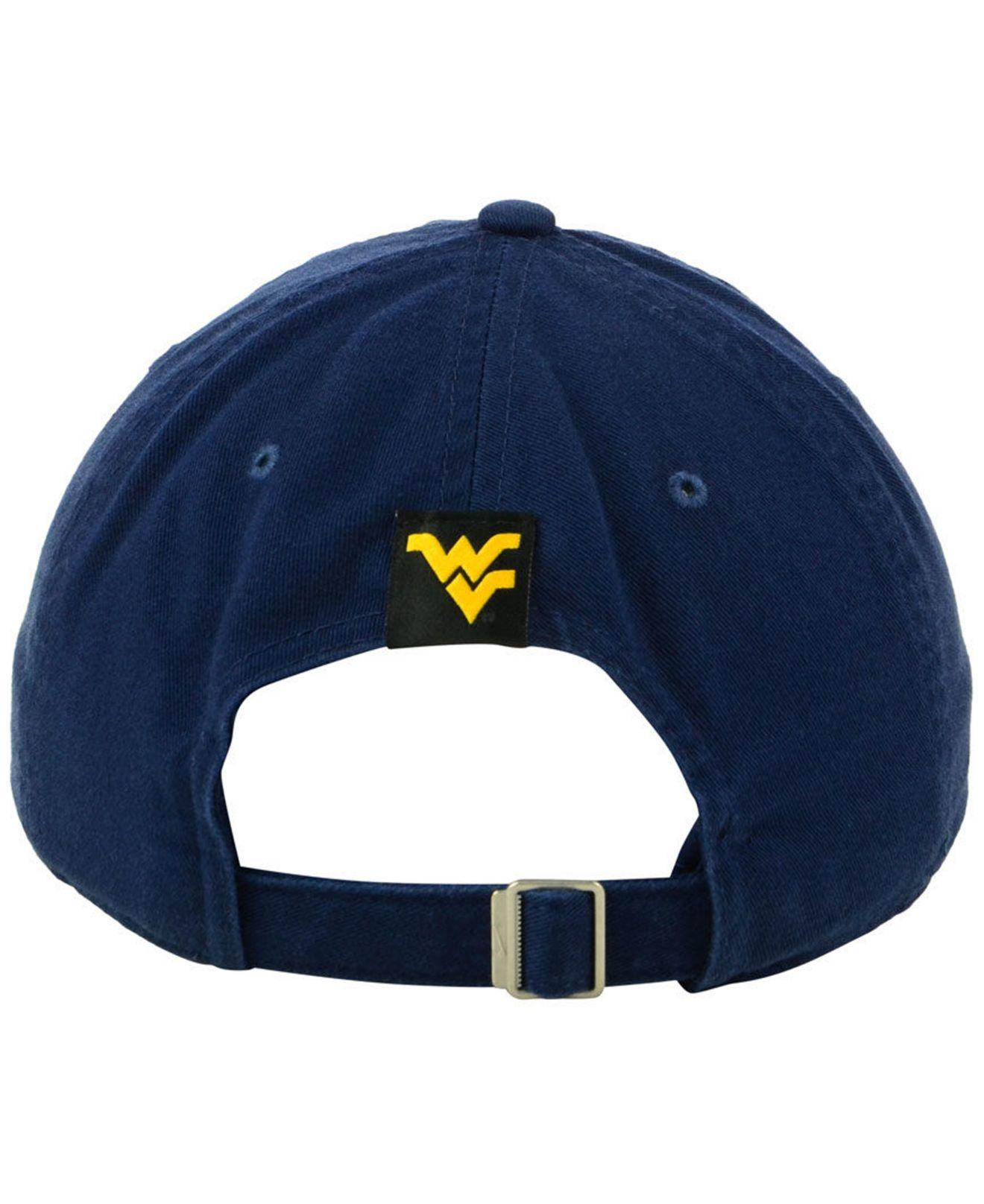 buy online 491b2 80785 Nike - Blue West Virginia Mountaineers H86 Wordmark Swoosh Cap for Men -  Lyst. View fullscreen